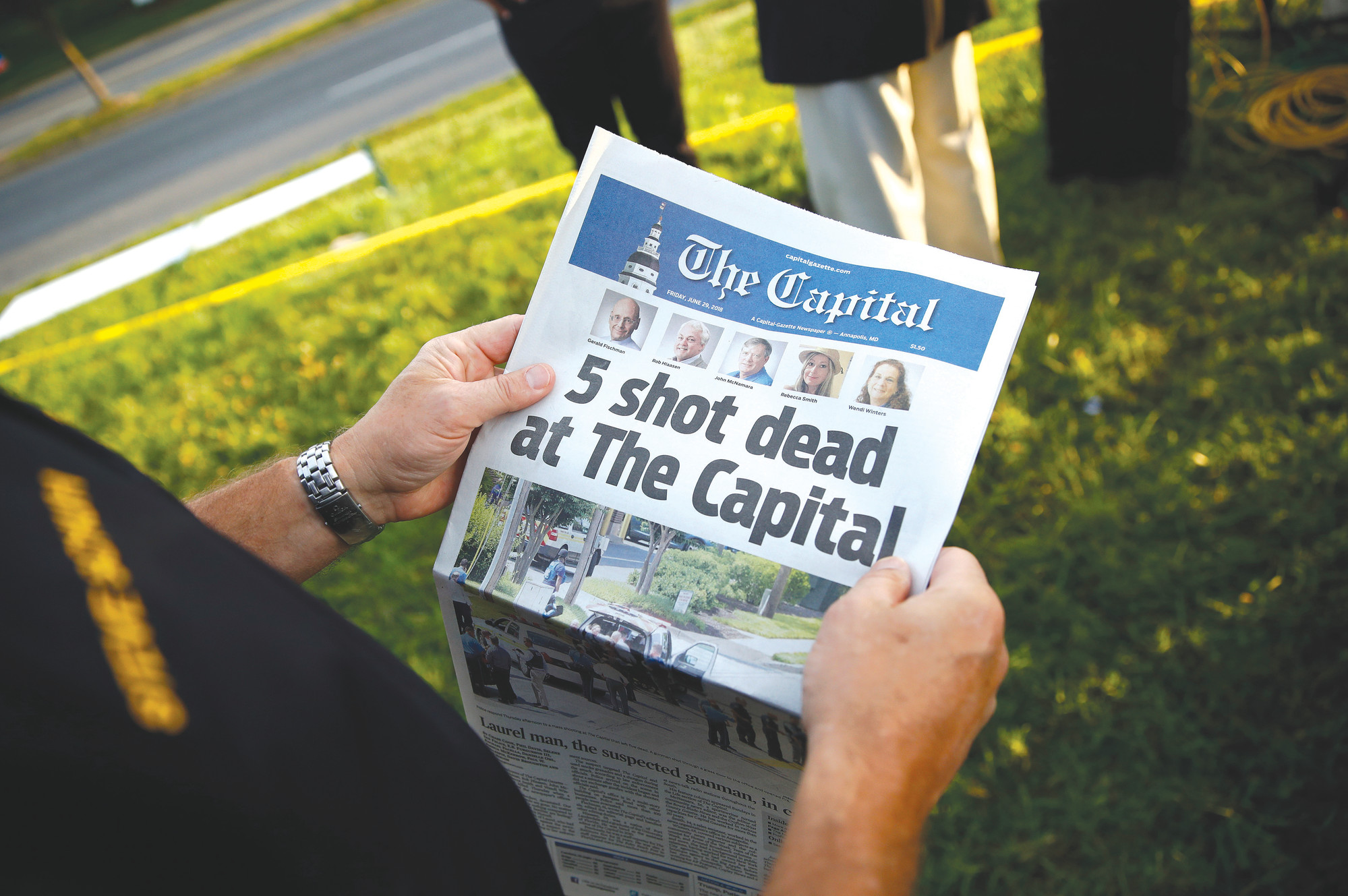 Five killed in gun attack on USA  newspaper