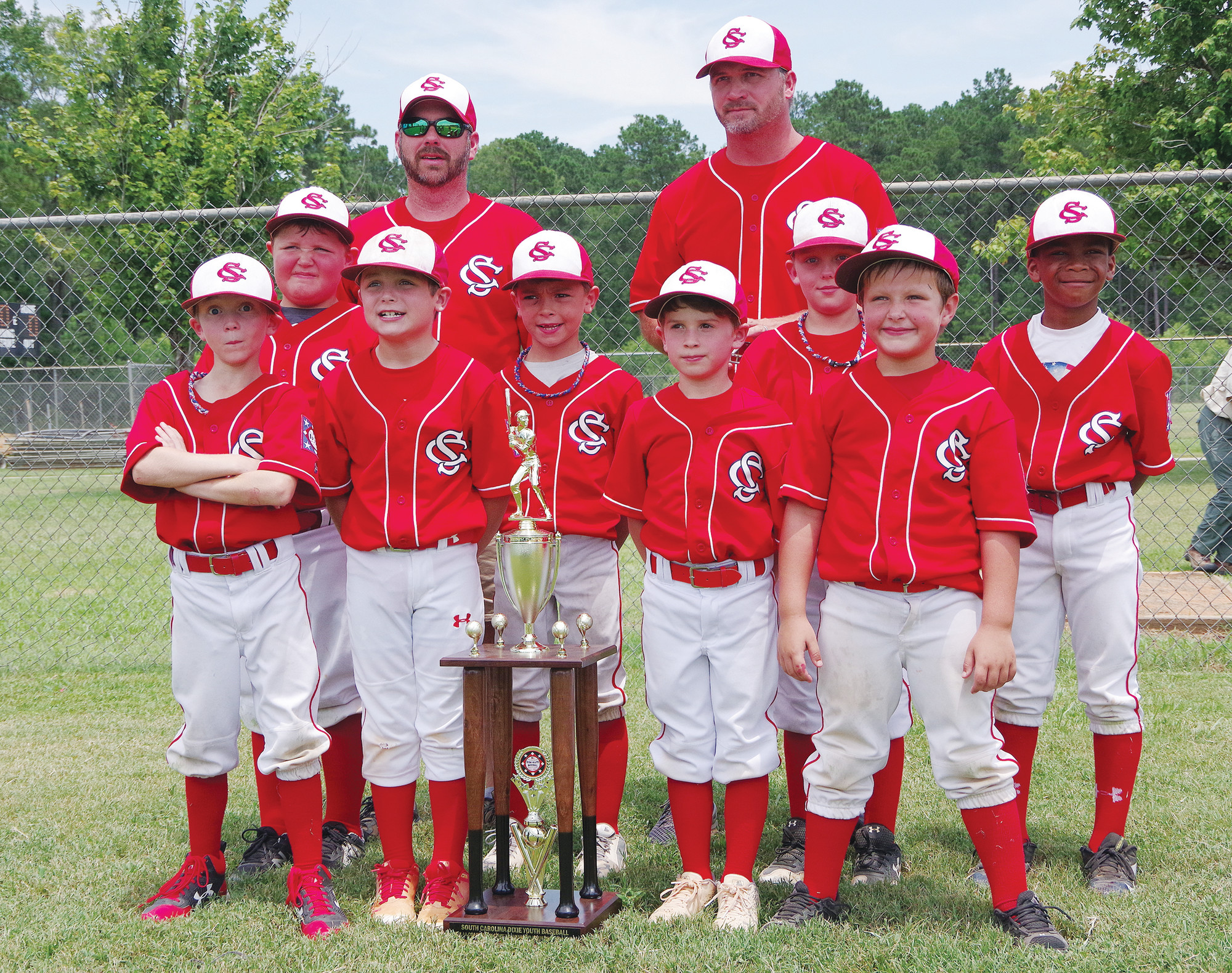 PHOTO PROVIDED BY THE MORNING NEWS  The Sumter American 7-8 year-old coaches pitch all-star team  was recognized on Tuesday for sportsmanship in the state tournament in Florence. Sumter American was eliminated by eventual state champion Midlands.
