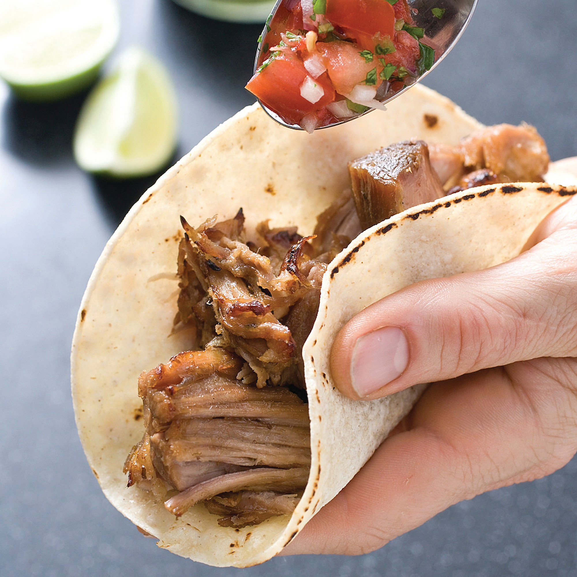 This photo provided by   America's Test Kitchen   shows Mexican pulled pork.