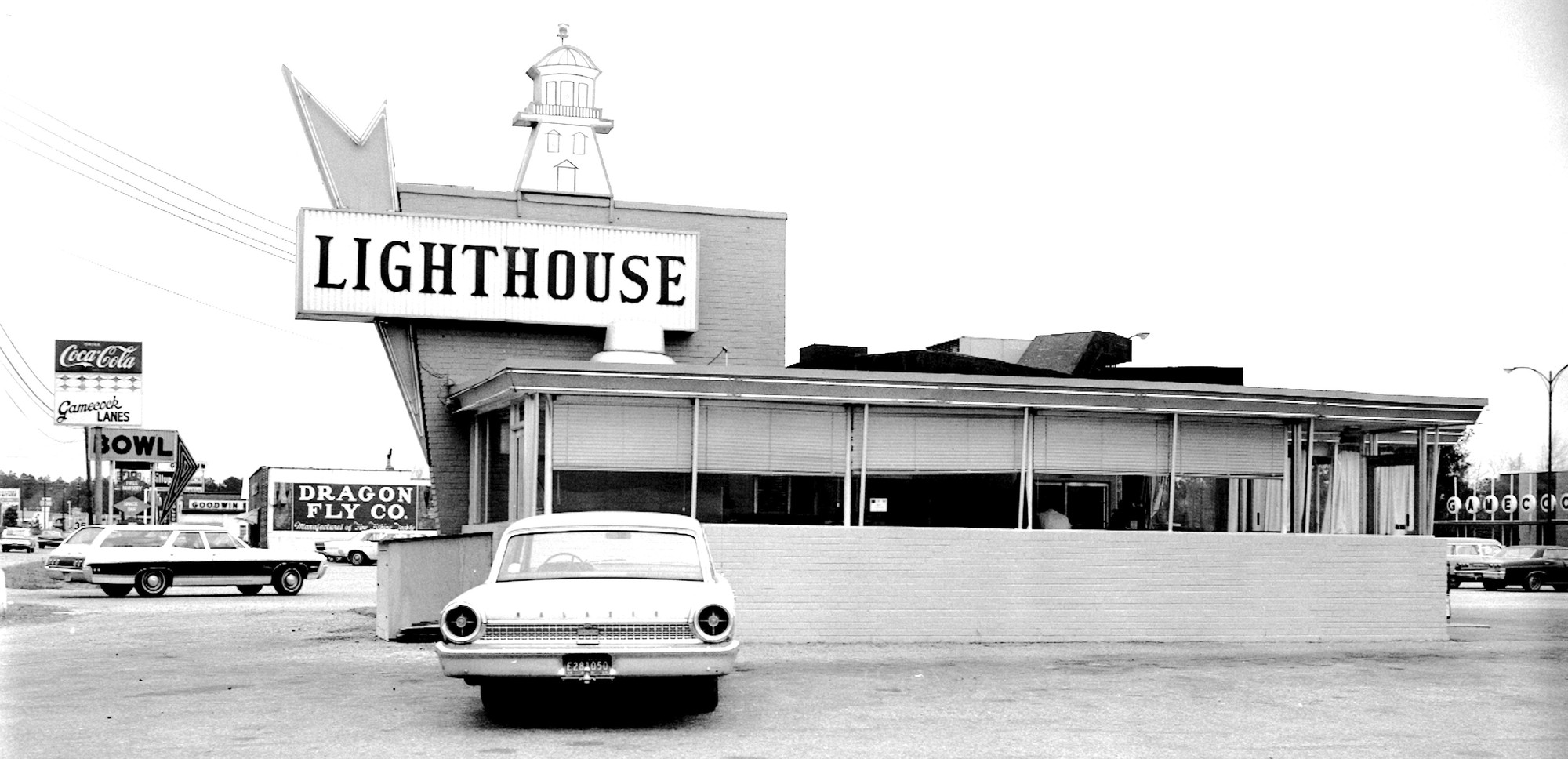 The Lighthouse Restaurant was a favorite dining destination on Broad Street near the present Gamecock Lanes bowling alley.