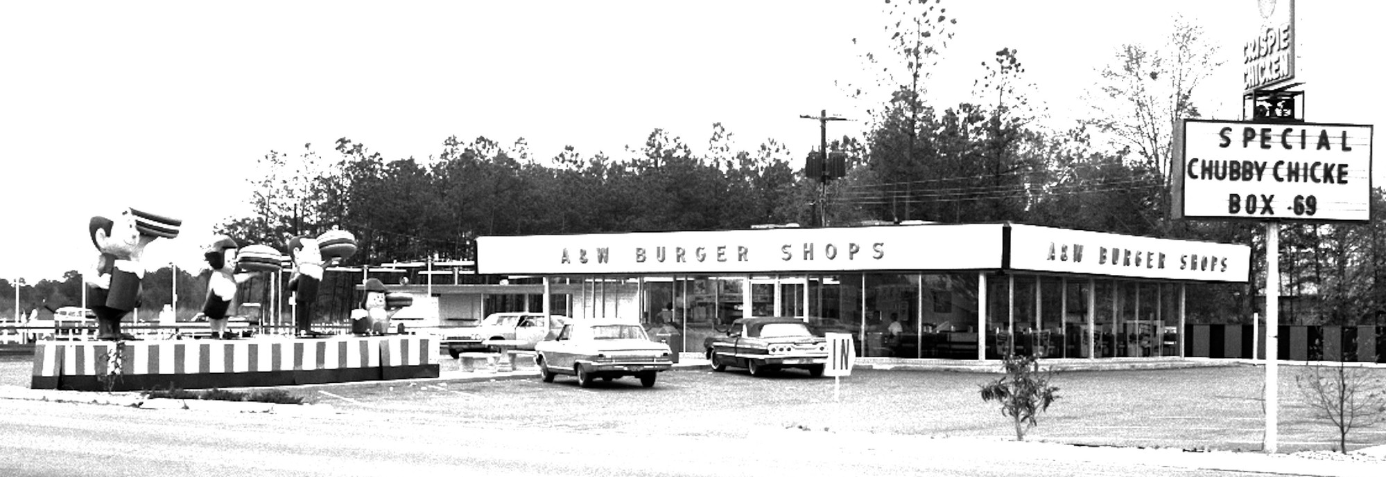 The A & W Burger Shop was on Wesmark next to Putt-Putt Mini-Golf facility.