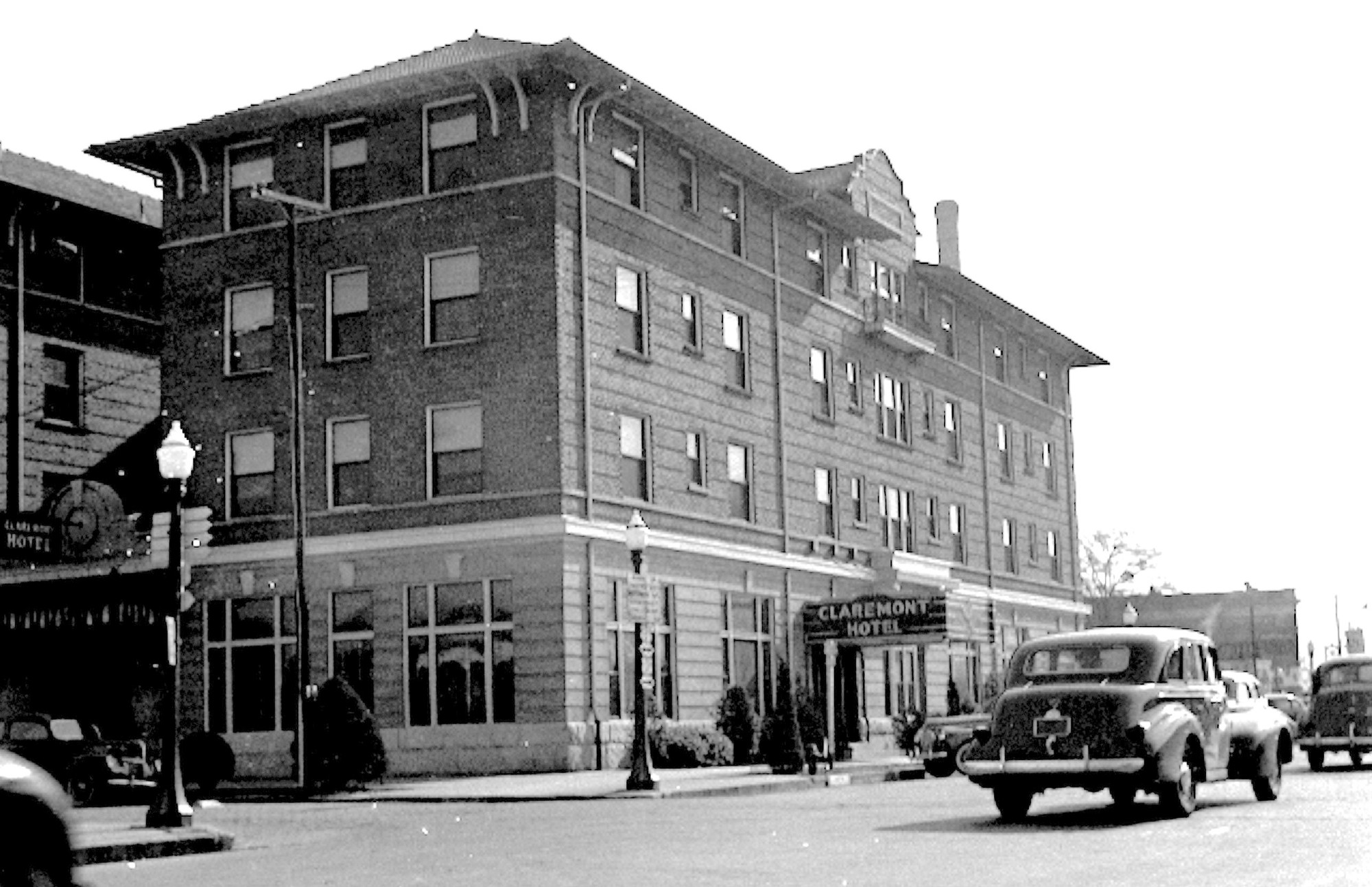 The Claremont Hotel at Bartlette and South Main streets.