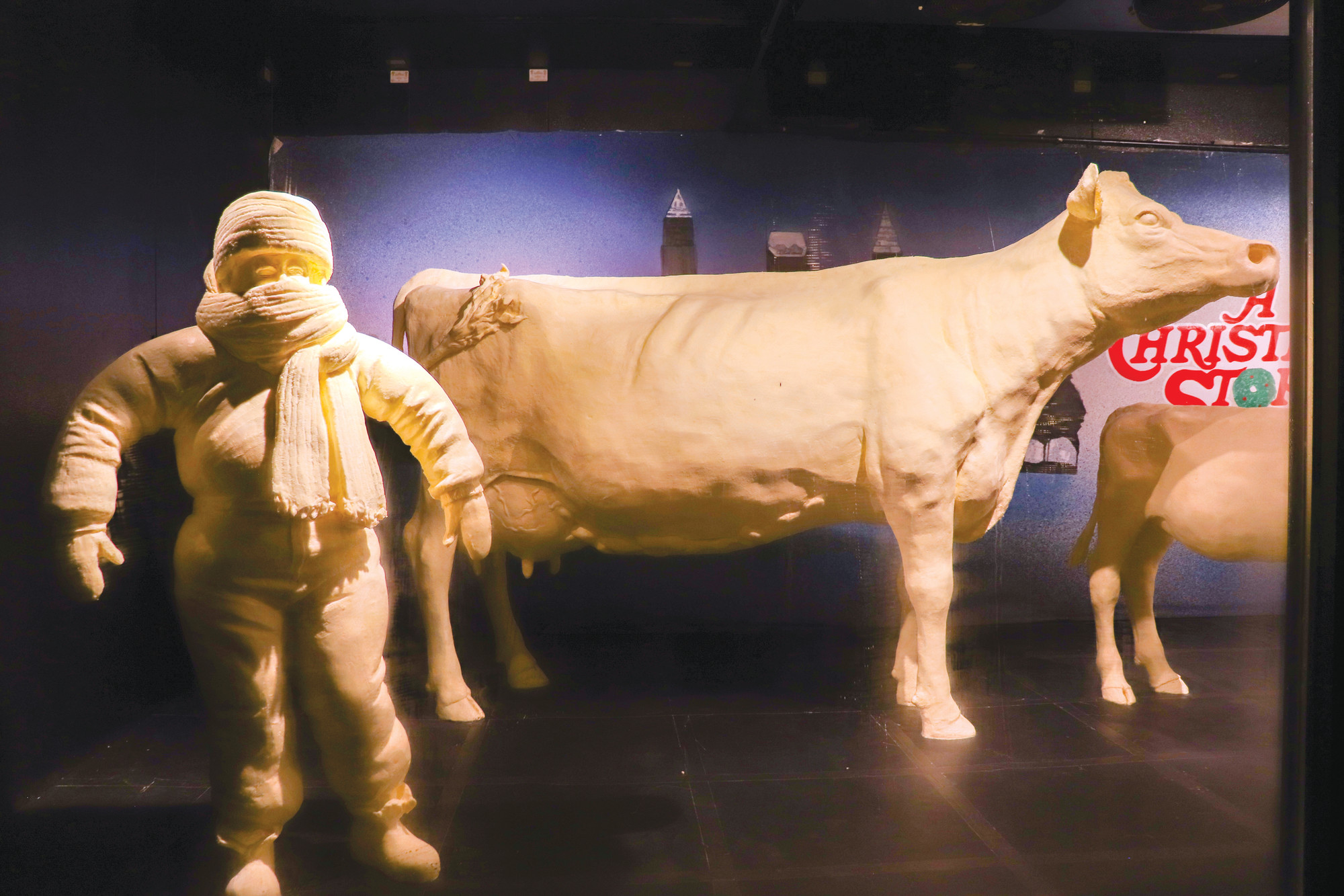 butter sculptures honor a christmas story