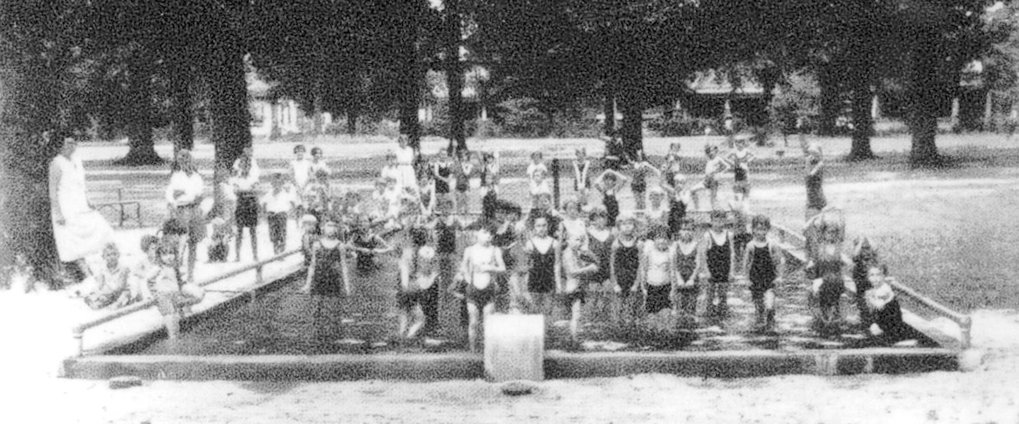 Wading pool at Memorial Park