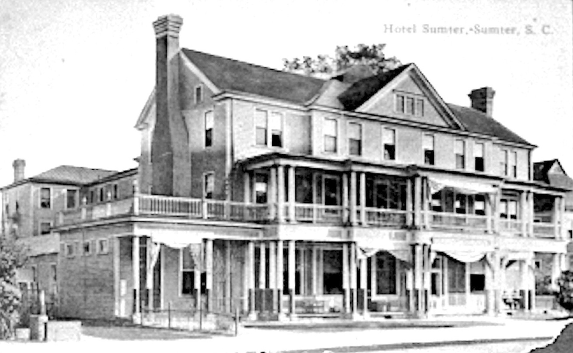 Sumter Hotel once located on South Main Street.