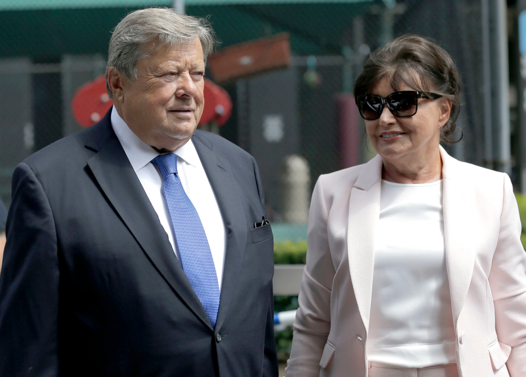 THE ASSOCIATED PRESSViktor and Amalija Knavs, First Lady Melania Trump's parents, took the citizenship oath on Thursday in New York City.