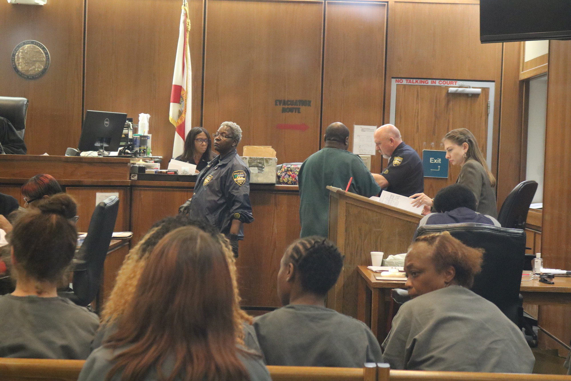 Brown is seen in court on Thursday in Jacksonville.