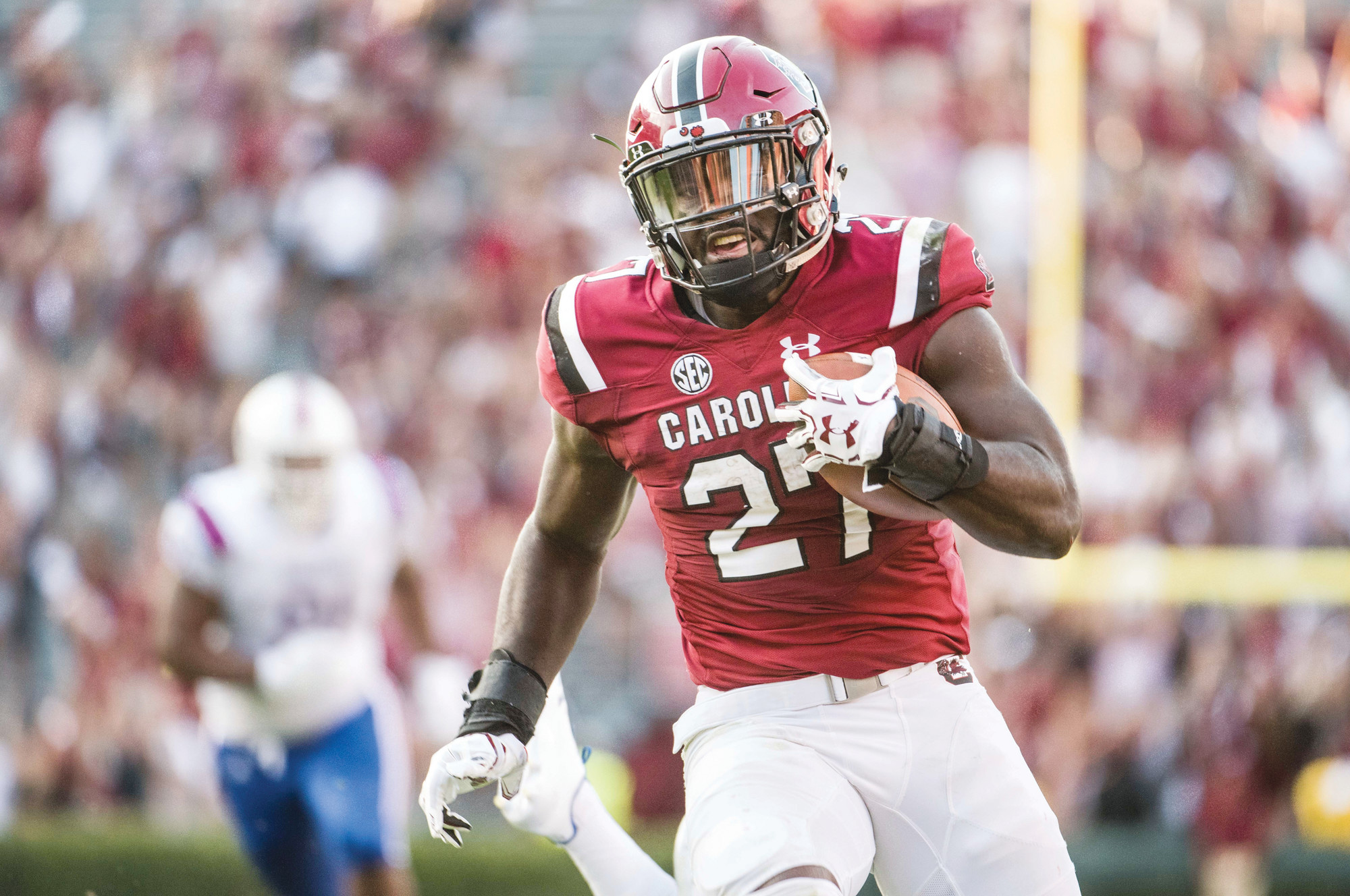 South Carolina  running back  Ty'Son Williams  (27), a former  Crestwood  standout, is part of a trio of running backs that the Gamecocks hope will lead to an improved running attack.  THE ASSOCIATED PRESS
