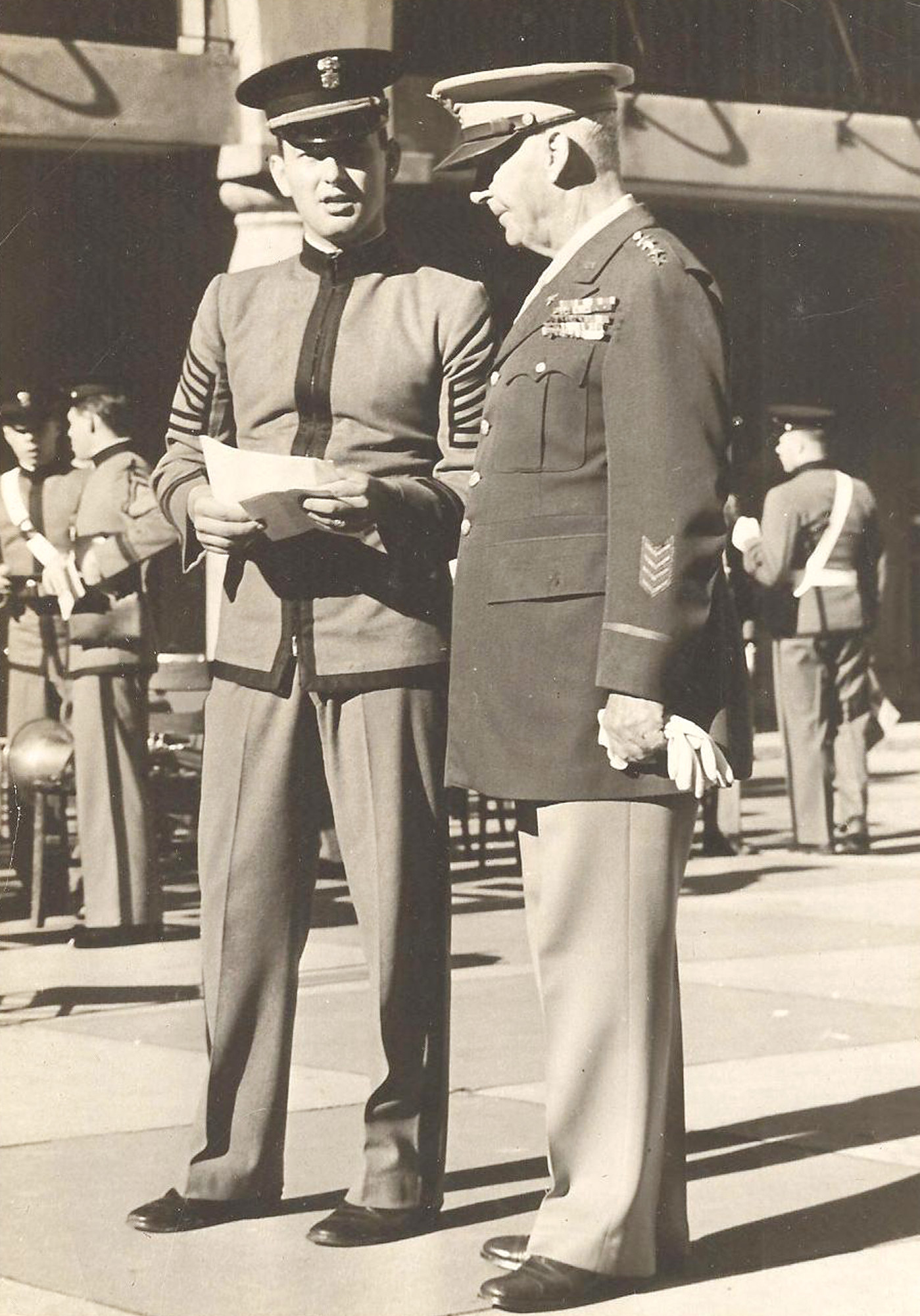 Bubba McElveen, at left, entered the Air Force after graduating from The Citadel and then served in the Korean conflict.
