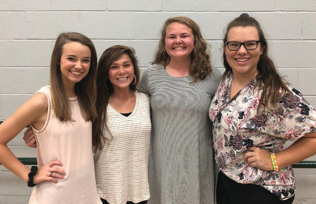 Thomas Sumter Academy delegates for Girls State are Kenzie MacQueen, Riley Delavan, Emily Jackson and Karin Brannon.