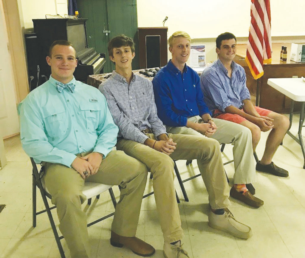 Thomas Sumter Academy delegates for Boys State are Ed Lee, Tyler Millwod, Mason Warren and Jarret Butzer.