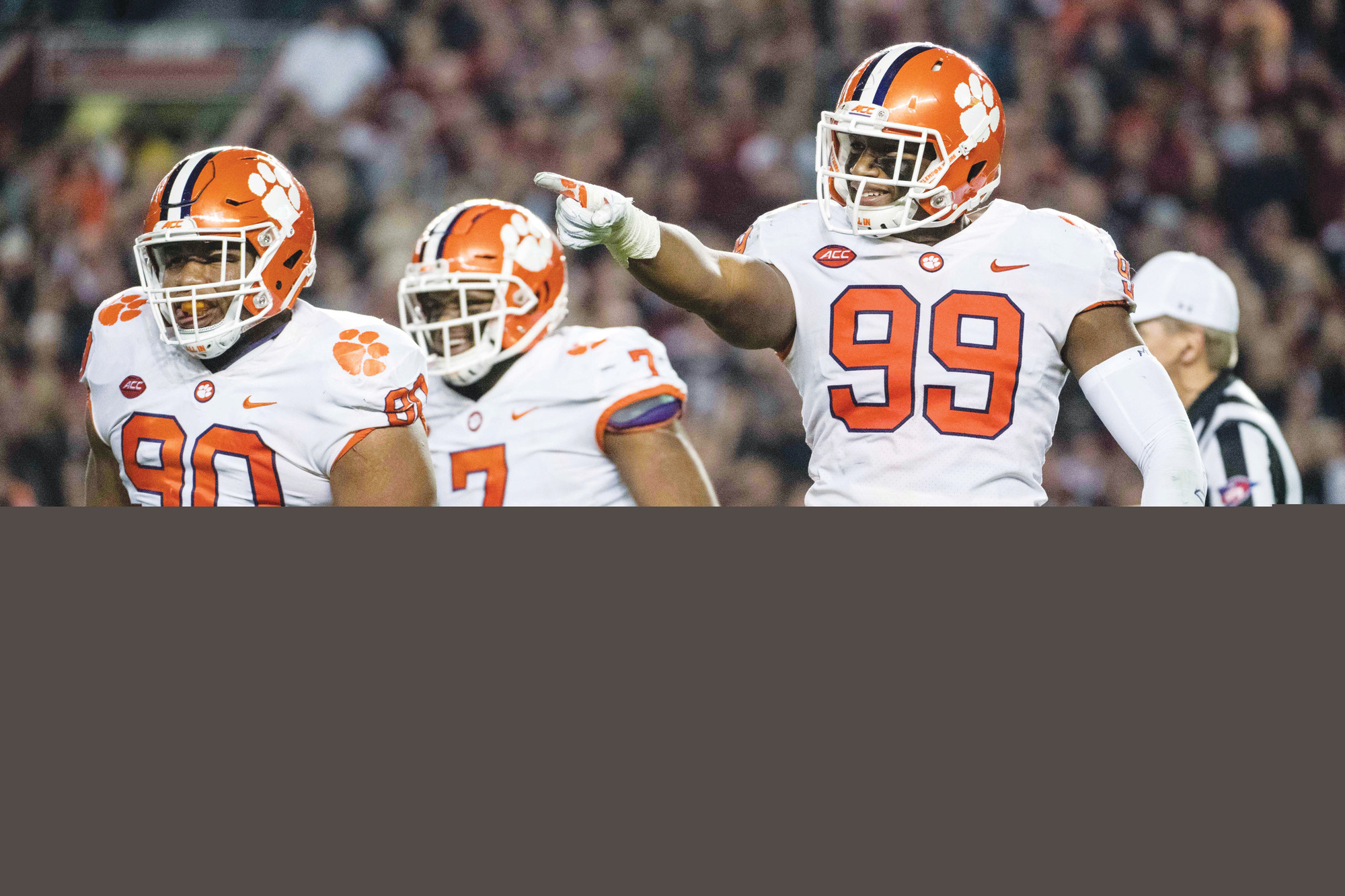 AP FILE PHOTO  Clemson's Clelin Ferrell (99), Dexter Lawrence (90), Austin Bryant (7) and Clelin Ferrell (99) along with Christian Wilkins make up a tremendous defensive front for the Tigers. Clemson opens its season at home on Saturday against Furman.