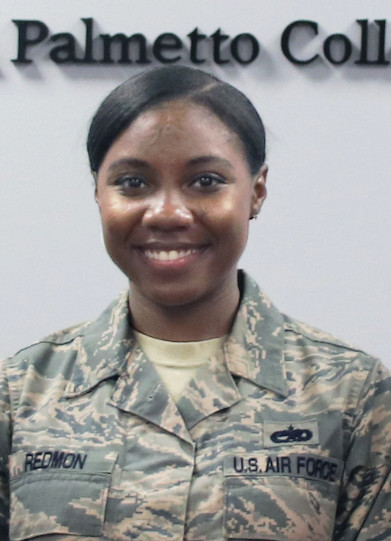 Staff Sgt. Jhodeci Redmon is one of three recipients of the Sumter Utilities and USC Sumter Endowed Scholarship Fund for Shaw Air Force Base Hometown Military Heroes.