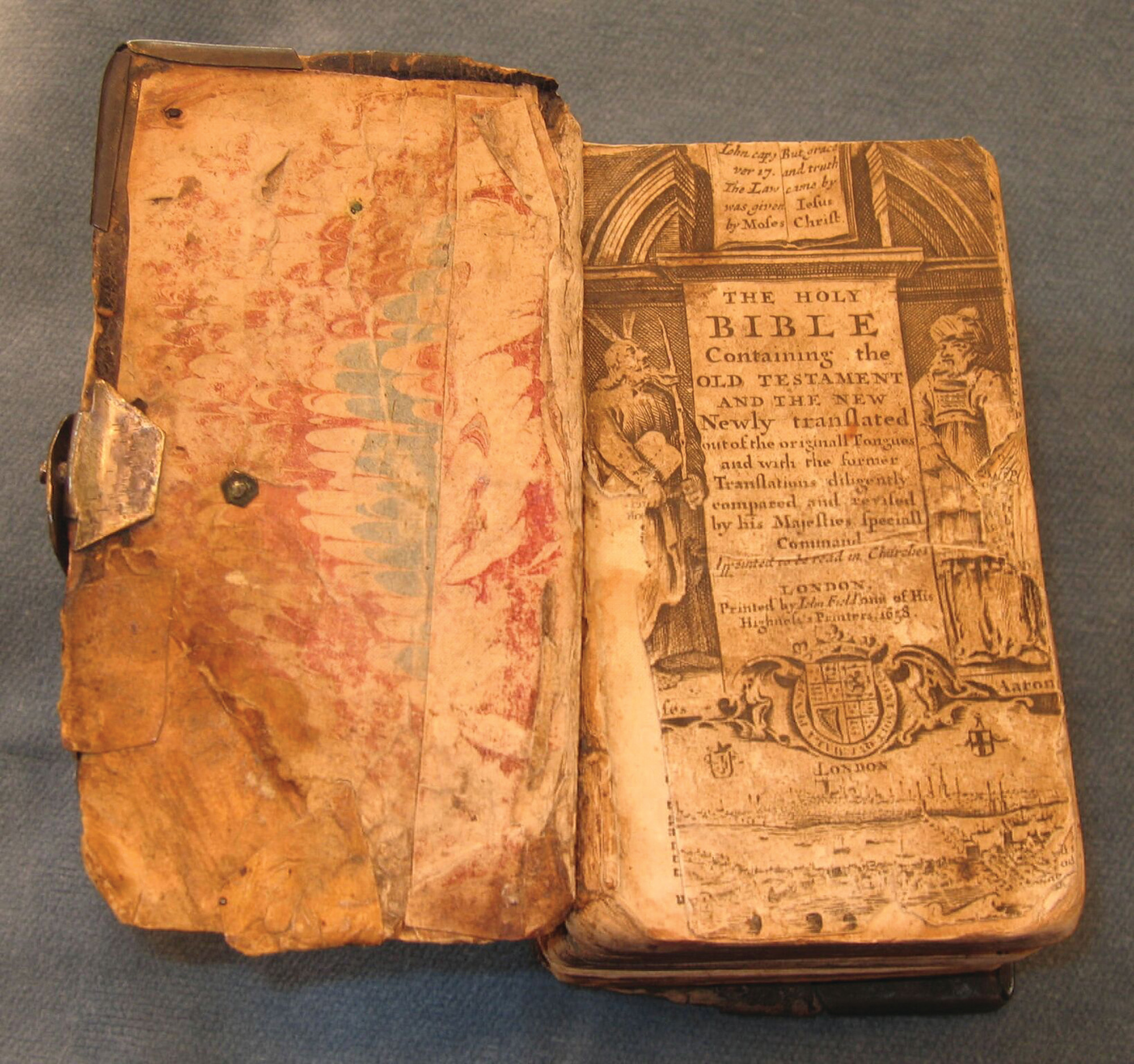 PHOTO PROVIDED BY S.C. HISTORICAL SOCIETYThe Rev. Archibald Stobo's Bible from 1658 can be viewed in A Haven with Prospects - Exploration and Settlement.