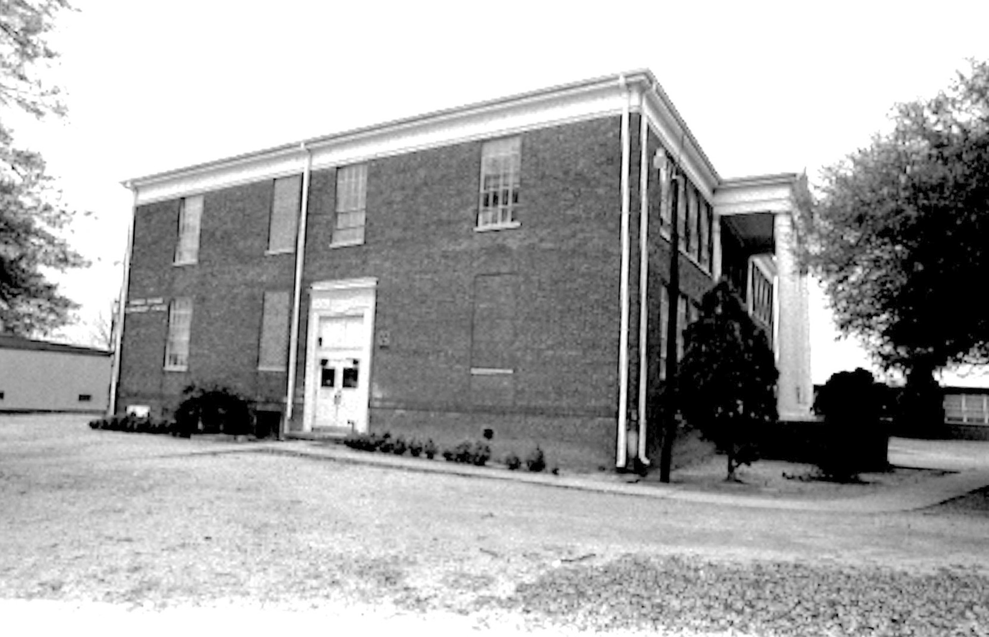 Savage-Glover School is seen in 1975.