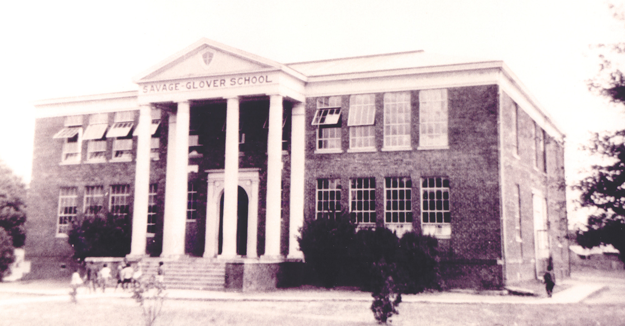 Savage-Glover School was the site of one of four parks opened by the recreational association in 1940.