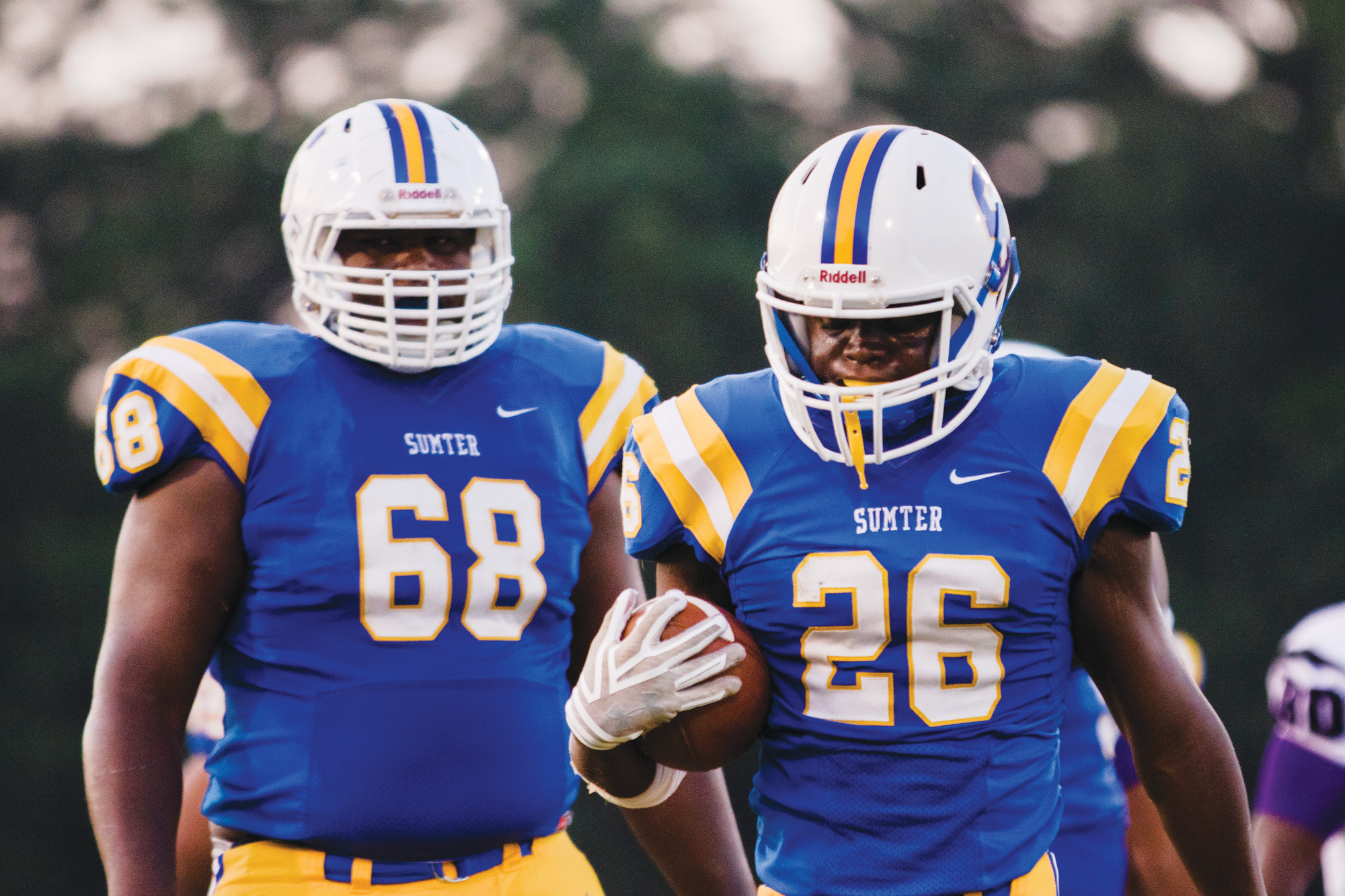 Sumter High School's Tayvian Gass (68) won The Sumter Item Offensive Lineman Player of the Week for the second straight week despite moving from right tackle to center due to an injury on the offensive line.