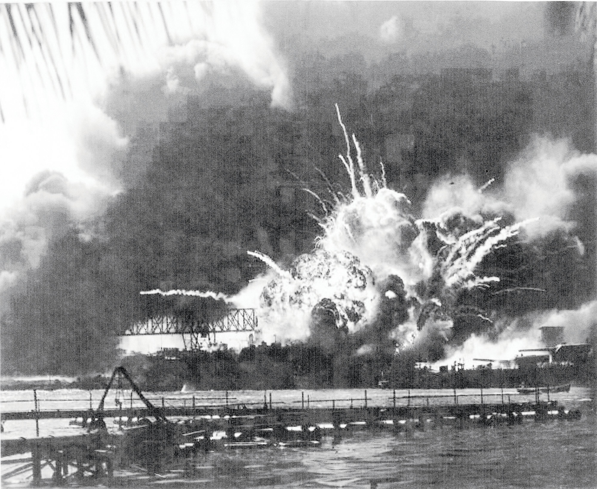 AP FILE PHOTOs  The Japanese bombed all eight U.S. battleships at Pearl Harbor, destroying four of them.