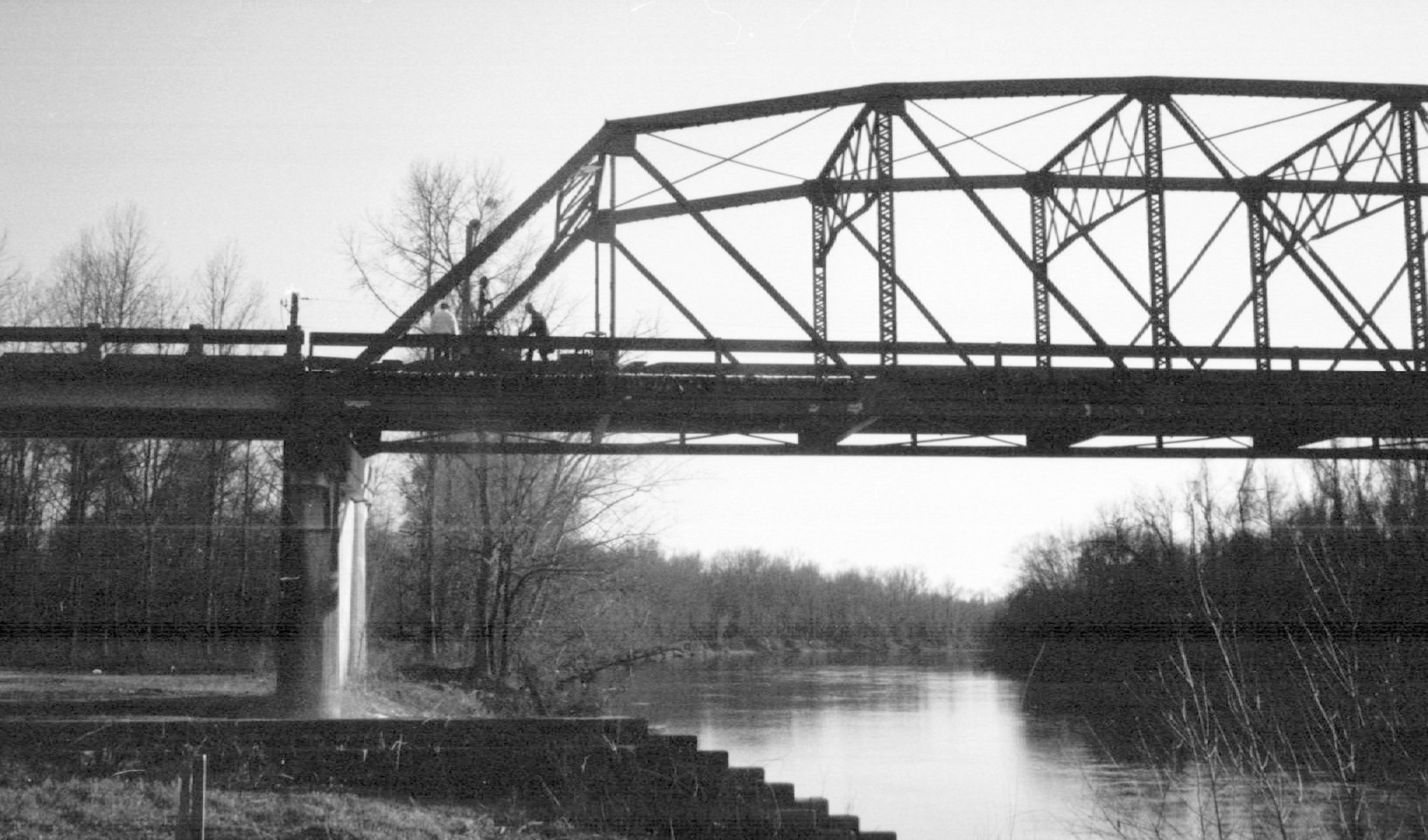Demolition of the old Wateree River truss bridge on U.S. 76/378 began in early 1986.