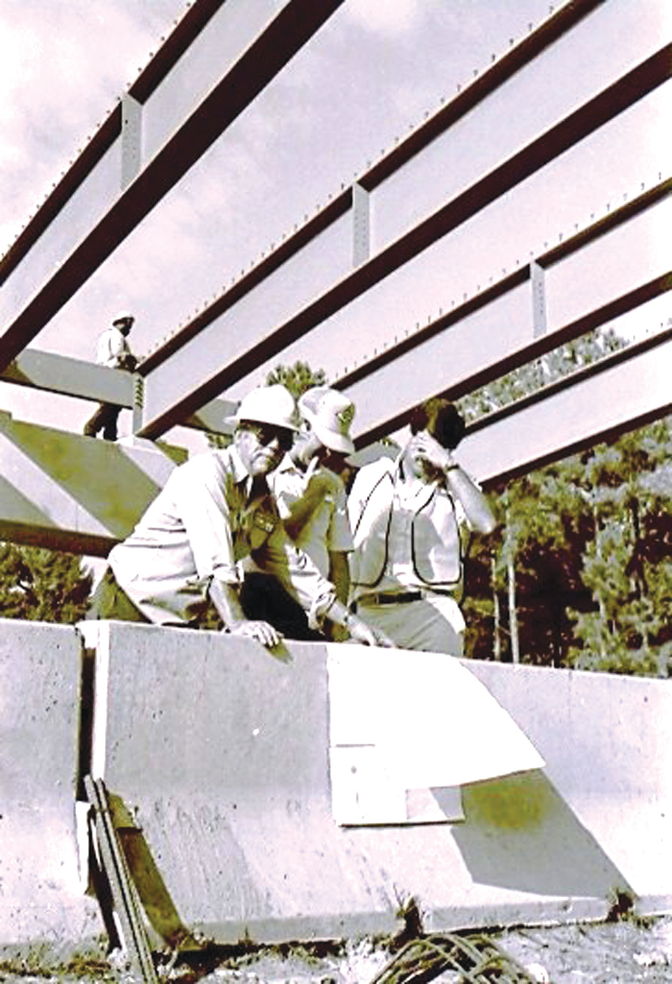 The Wise Drive bridge construction is seen in 1989.