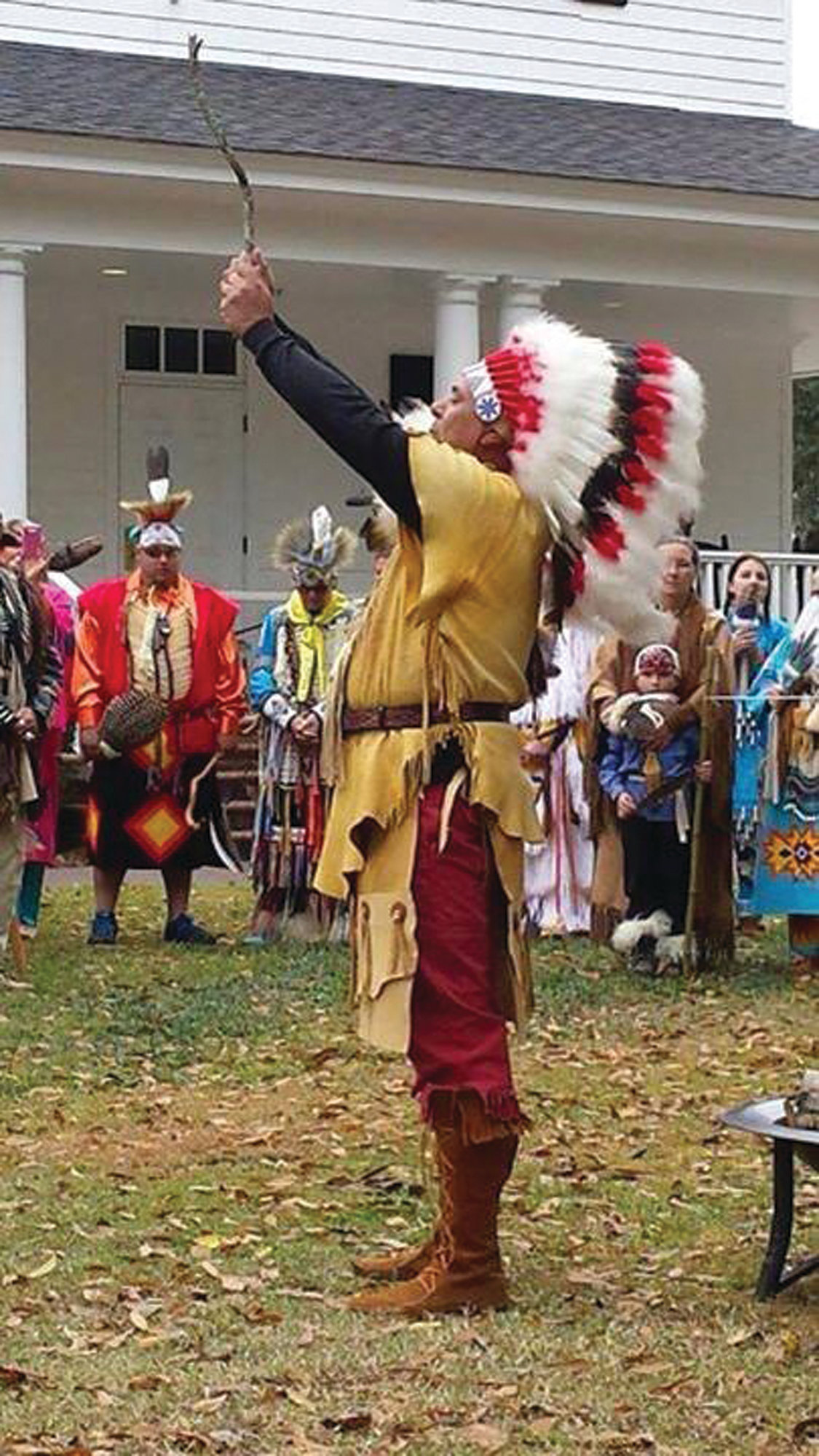 Chief Ralph Oxendine of the Sumter Tribe of Cheraw Indians will speak with festival visitors Saturday.