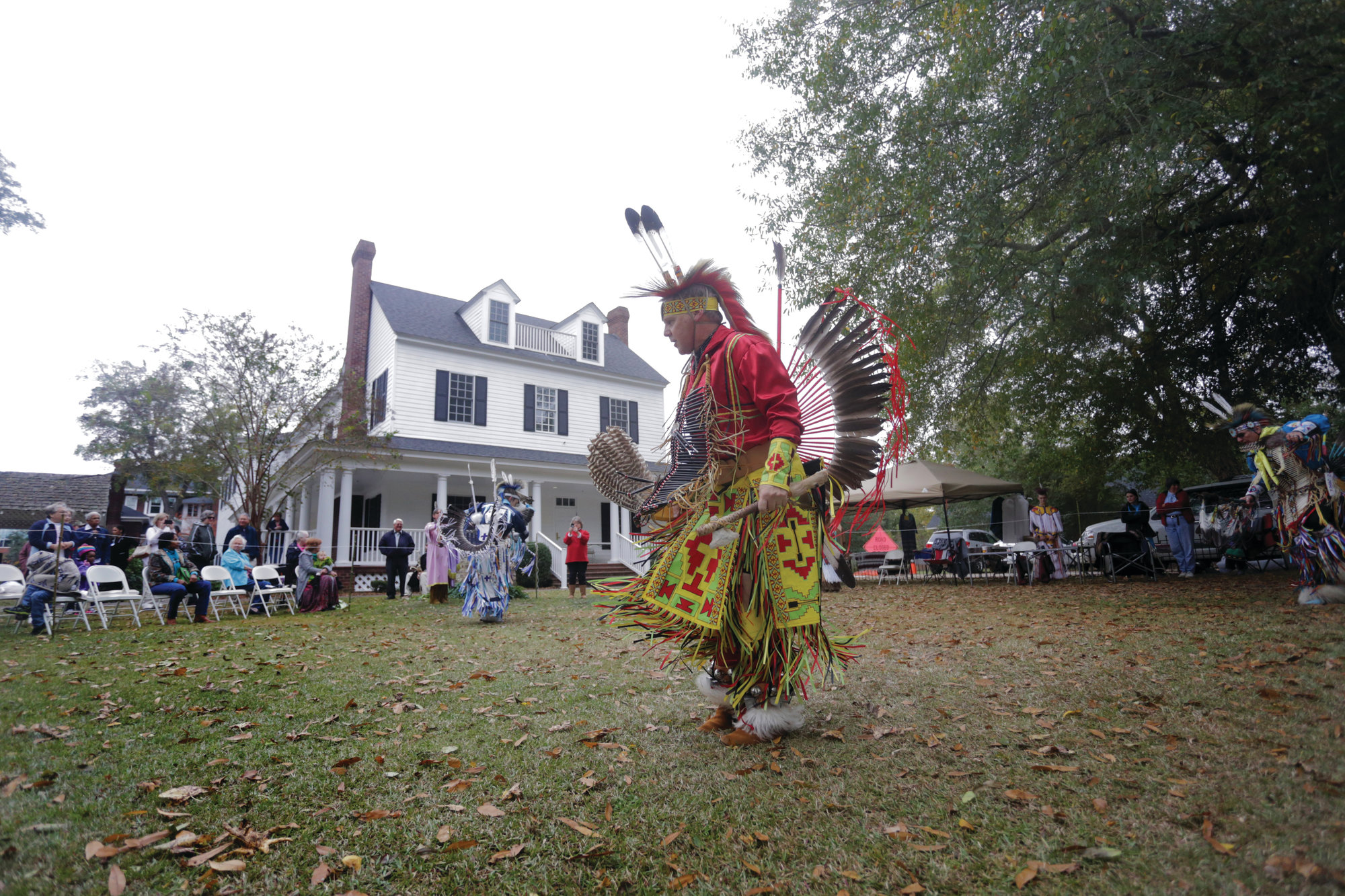 Native Americans dance during a past Sumter Tribe of Cheraw Indians event at the Sumter County Museum.