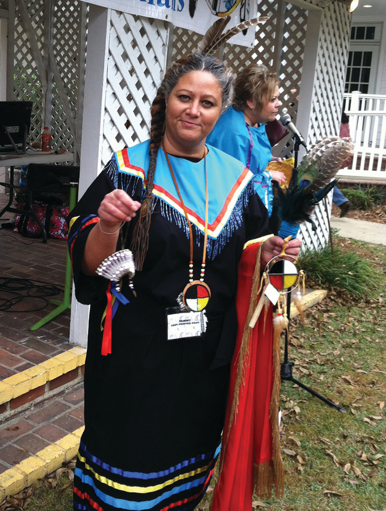 Tammy Ray Stevens, tribal council member, is seen during a previous event celebrating the Sumter Tribe of Cheraw Indians.