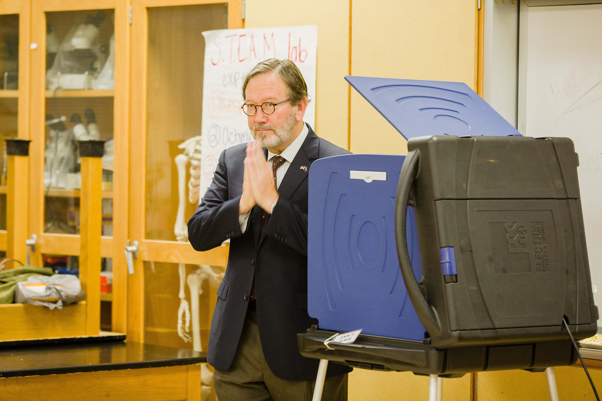 5th Congressional District Democratic hopeful Archie Parnell after voting at Willow Drive Elementary on Tuesday.