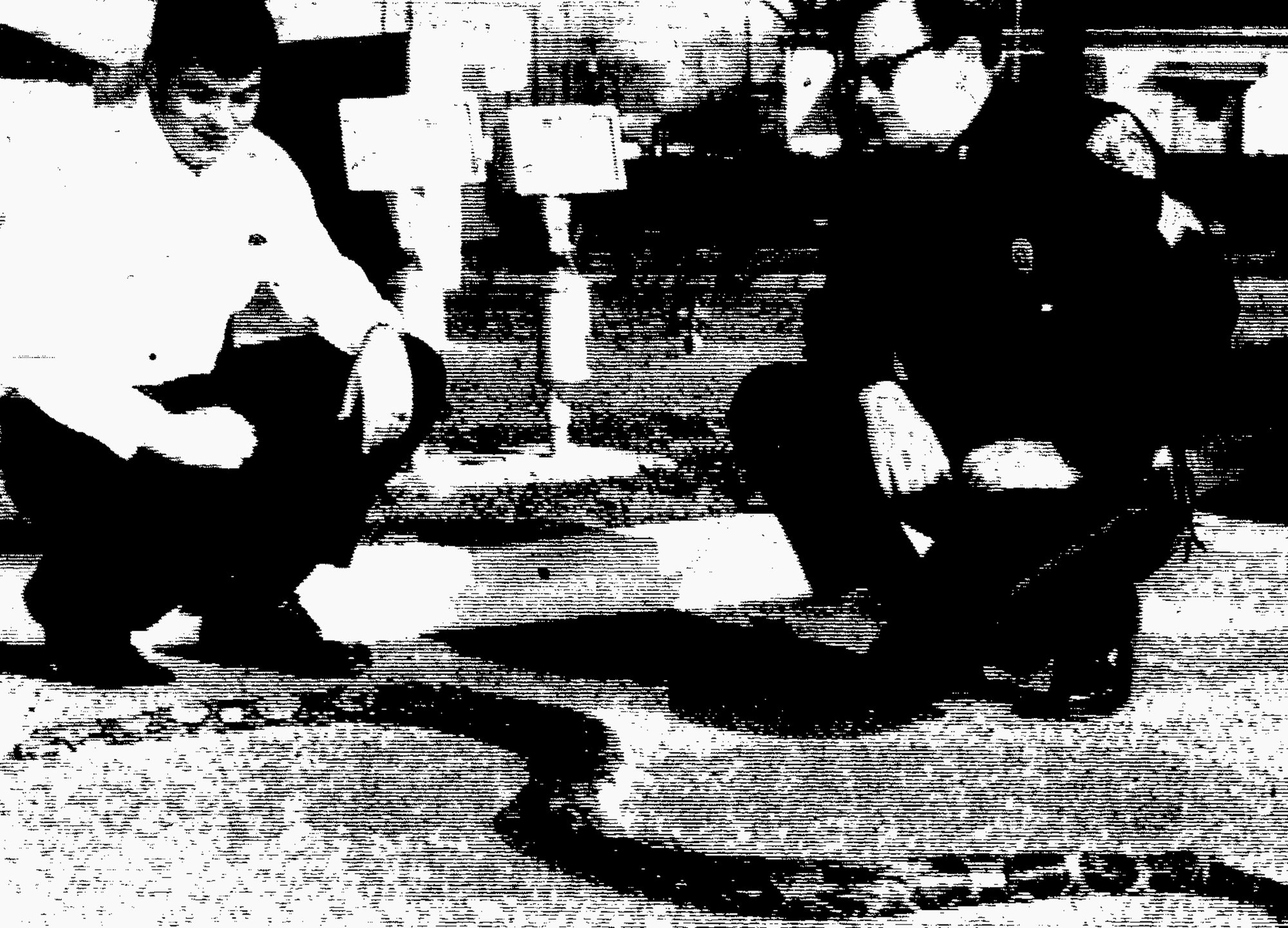 1969 - A 9-foot boa constrictor, considered a tropical creature, was found dead on Artillery Drive by Sumter Police Department officers Lt. Maxie Connor and Sgt. W. D. Jenkins. Neal Compton and Sgt. Jenkins are seen looking at the large snake. Officers haven't been able to determine how or why the snake was living in the Sumter area.
