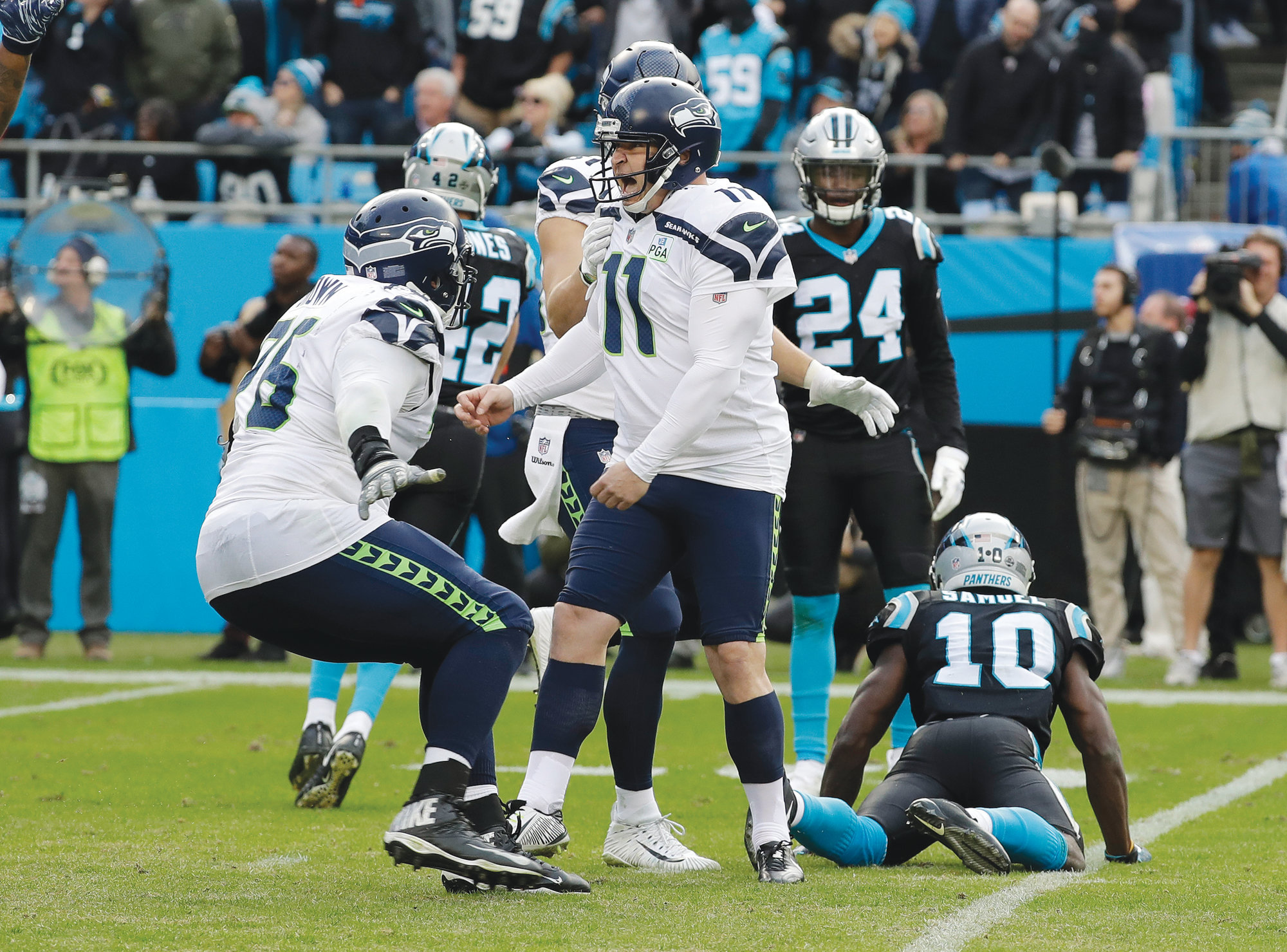 Panthers Drop Third in a Row, 30-27 to Seattle