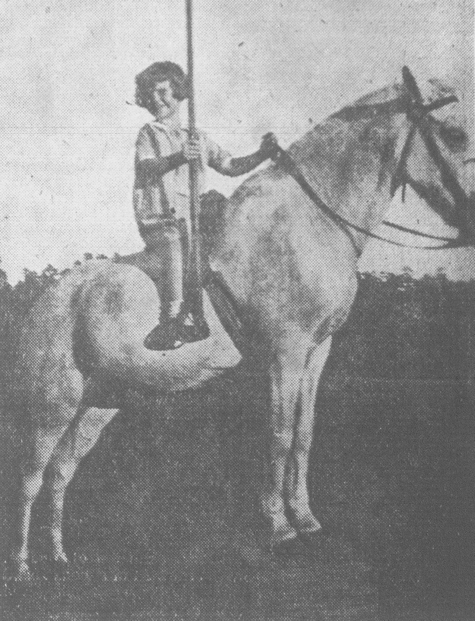 The youngest rider ever known to take part in a tilting tournament, Edith McCants Bookhart, was to ride during the Sumter County Fair in 1932.