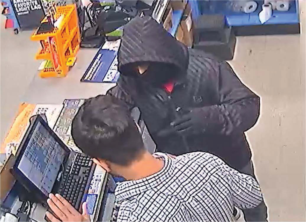 PHOTO PROVIDEDThis screen grab from a video shows a white male being sought in the alleged robbery of Marathon Gas Station in Manning.