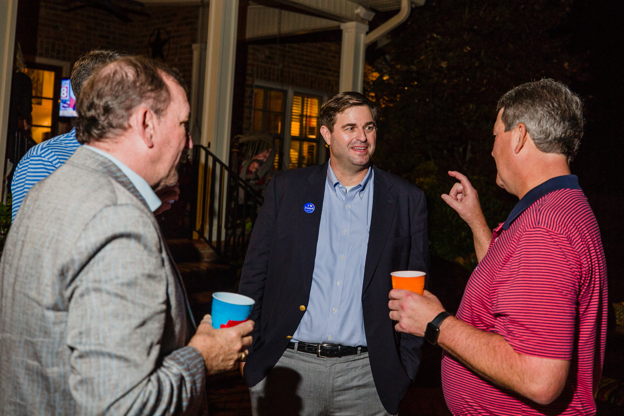 Rep. Murrell Smith, R-Sumter, talks with friends and constituents on election night on Nov. 6. He handily beat the first opponent he has had since being elected to the House in 2001, securing 82 percent of the votes in District 67 against Libertarian Brandon Humphries.