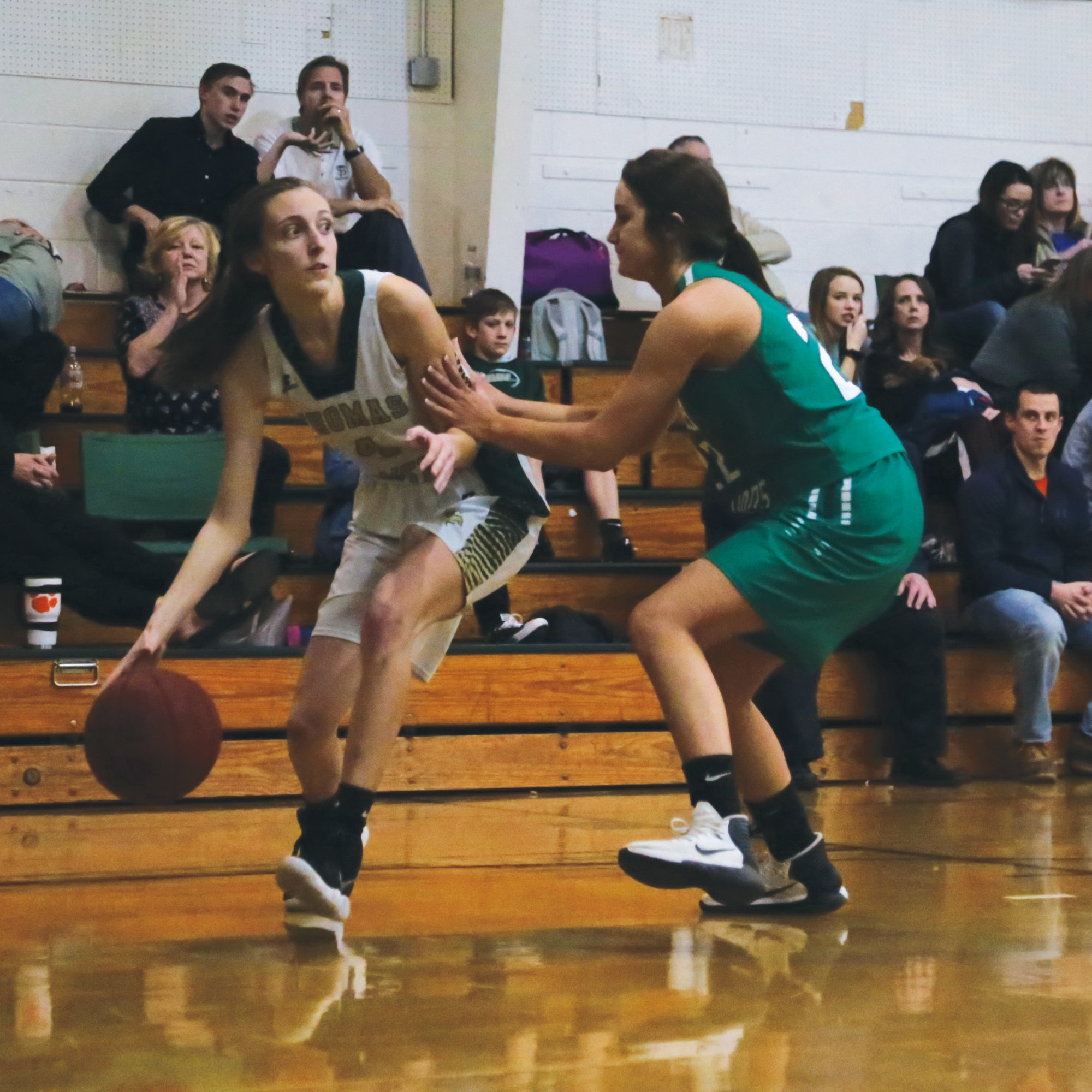 Thomas Sumter's Aubrey Stoddard challenges for a pass during the Lady Generals' game against Wilson Hall last season.