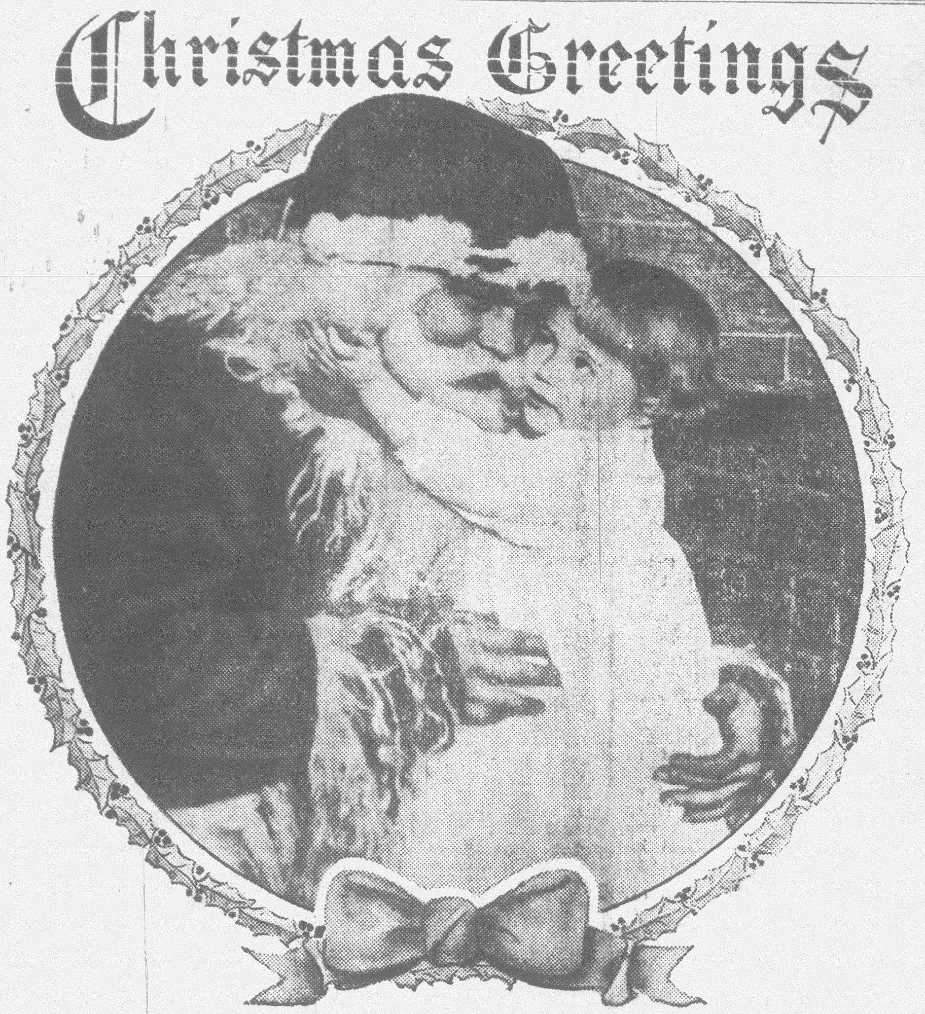 A child hugs Santa Claus in Sumter in 1931. In 1926, Helena Bultman brought the idea of bringing Santa to Sumter each December to greet children awaiting his arrival.