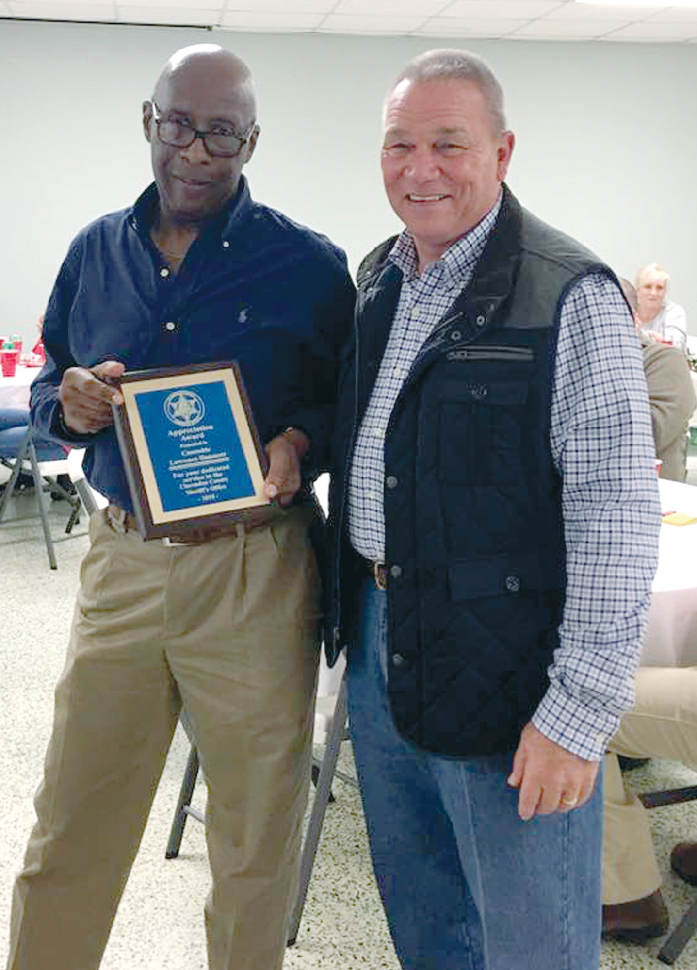 Clarendon County Constable Lawrence Hammett was awarded the 2018 Appreciation Award.