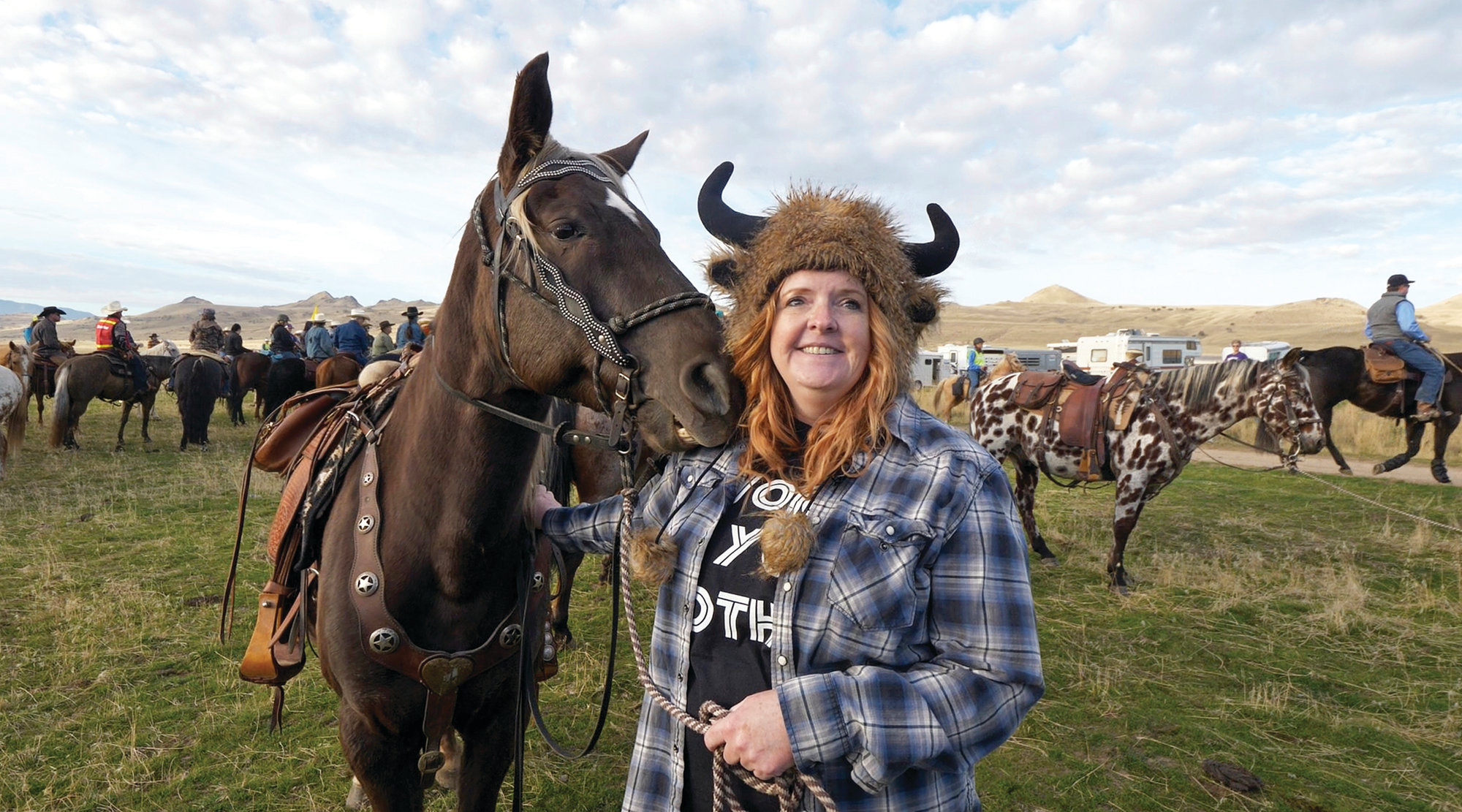 Rider Kyann Betz took part in this year's annual roundup which caps riders at 250 per year.