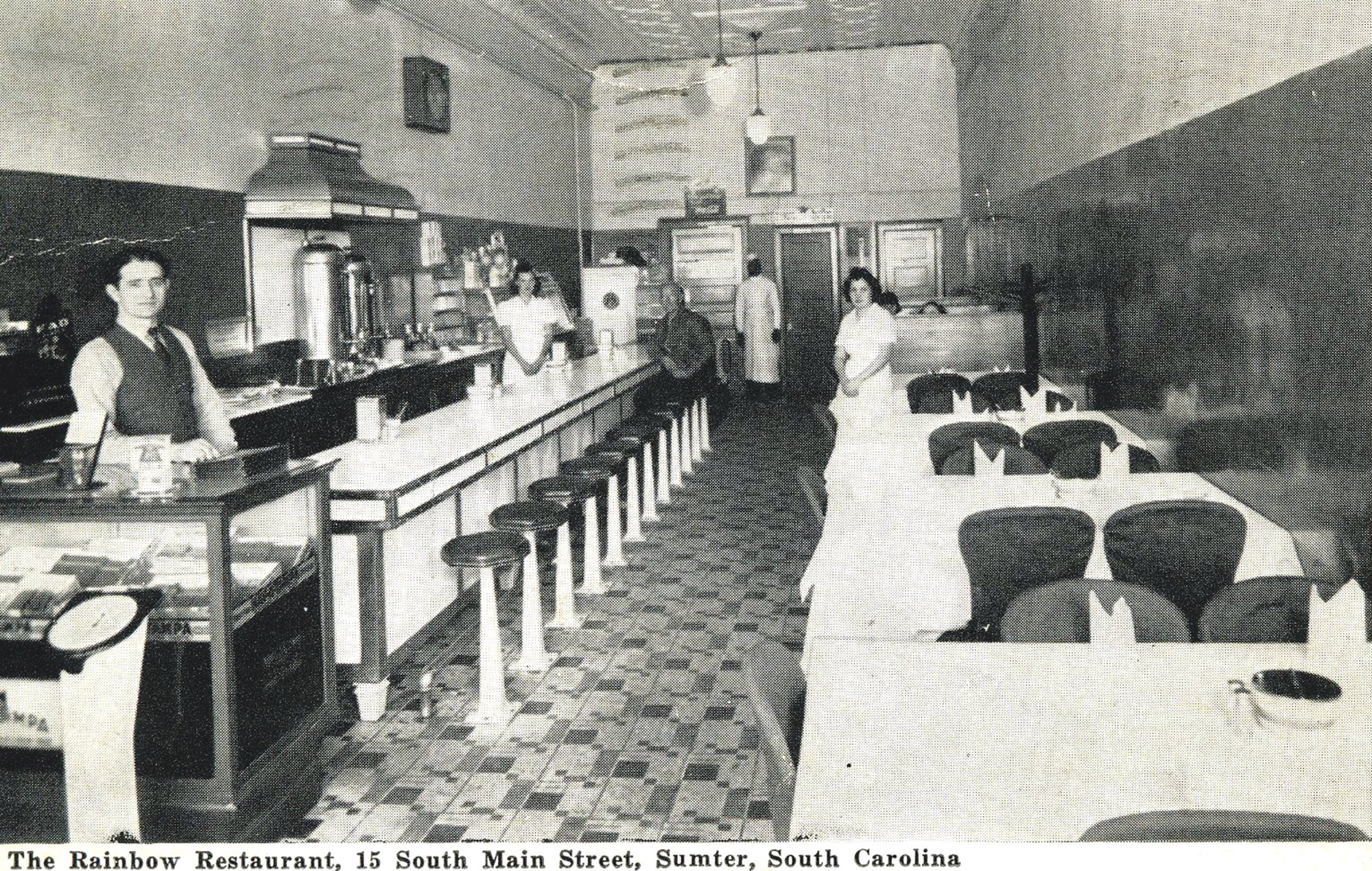 The interior of the Rainbow Restaurant, which stood at 15 S. Main St., is seen in this file photo.