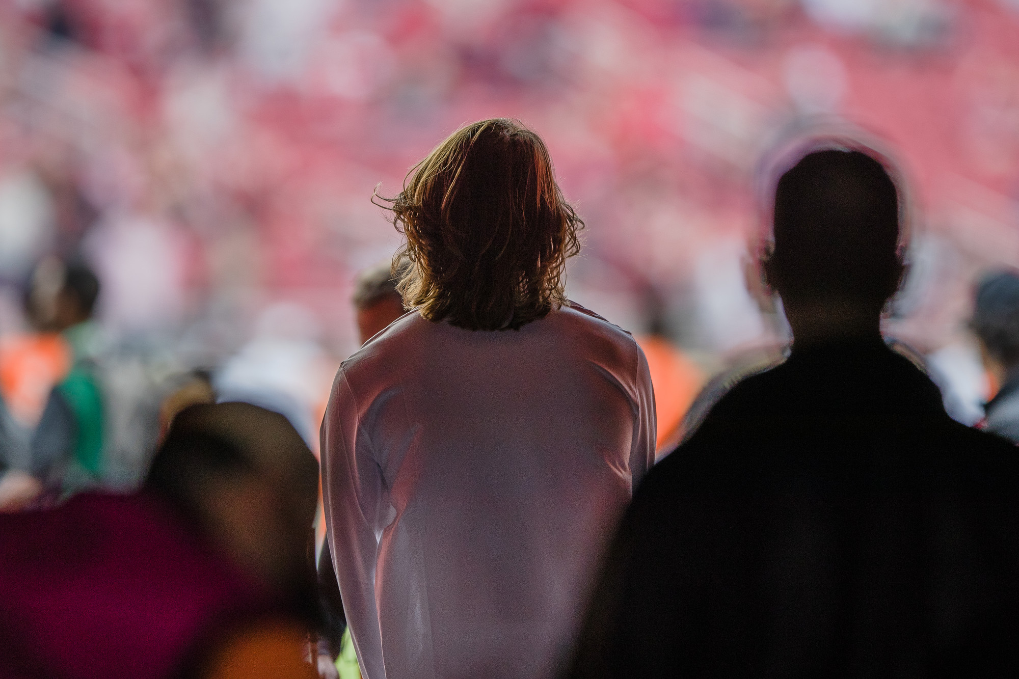 Clemson quarterback Trevor Lawrence looks out on to Levi's Stadium in Santa Clara, California, on Monday, Jan. 7 before the CFP National Championship game against Alabama.