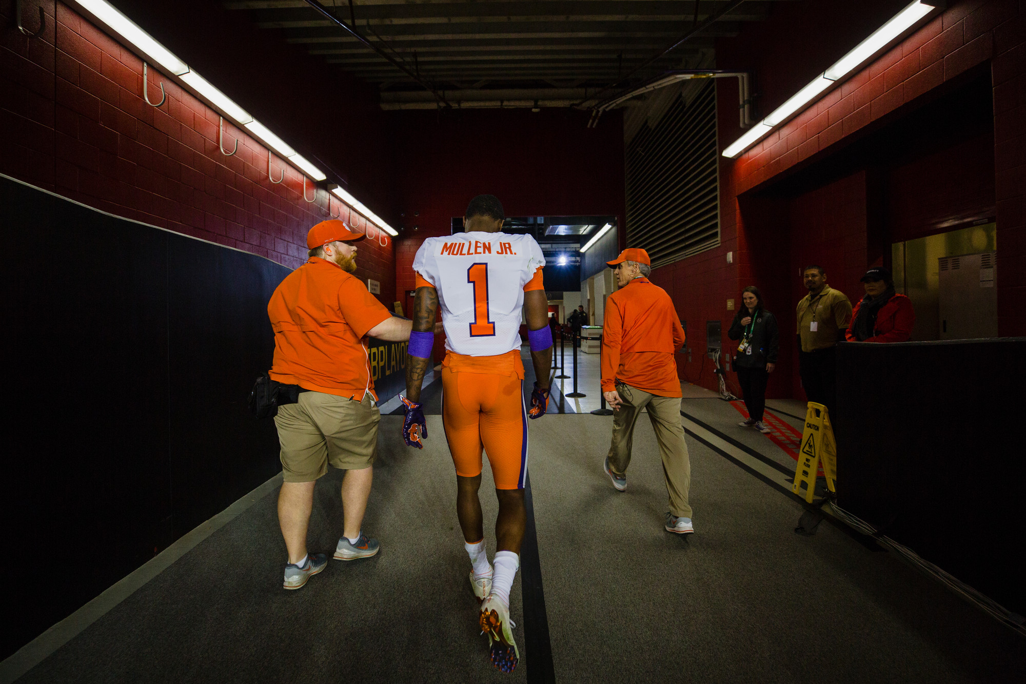 Clemson cornerback Trayvon Mullen, the game's defensive MVP, exits Levi's Stadium in Santa Clara, California, on Monday, Jan. 7 after the Tigers routed Alabama 44-16 to win the 2019 CFP National Championship.
