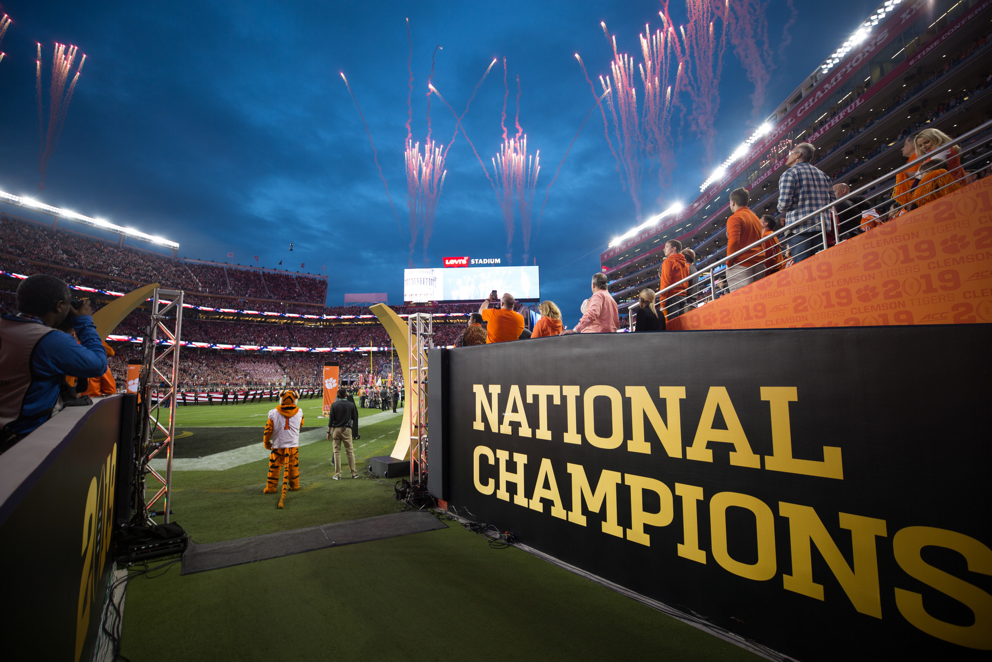 Levi's Stadium in Santa Clara, California, on Monday, Jan. 7 before the 2019 CFP National Championship game kicks off. Clemson routed Alabama to win 44-16.