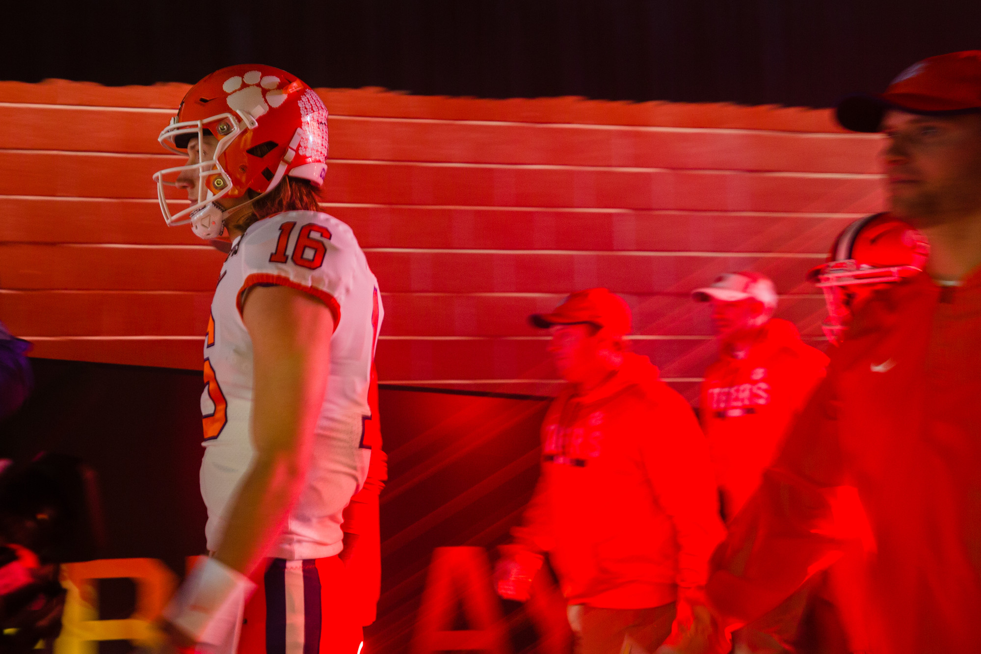 Clemson quarterback Trevor Lawrence walks out of the tunnel before the 2019 CFP National Championship at Levi's Stadium in Santa Clara, California, on Monday, Jan. 7. The Tigers routed Alabama to win 44-16.