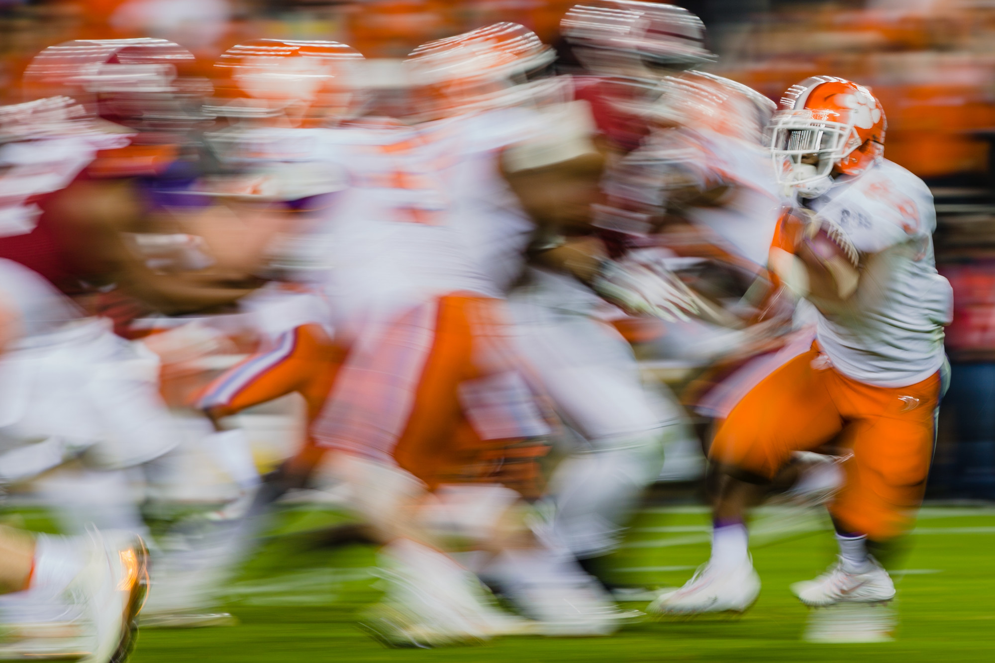 Clemson running back Travis Etienne runs the ball in the second half of the 2019 CFP National Championship at Levi's Stadium in Santa Clara, California, on Monday, Jan. 7. The Tigers routed Alabama to win 44-16.