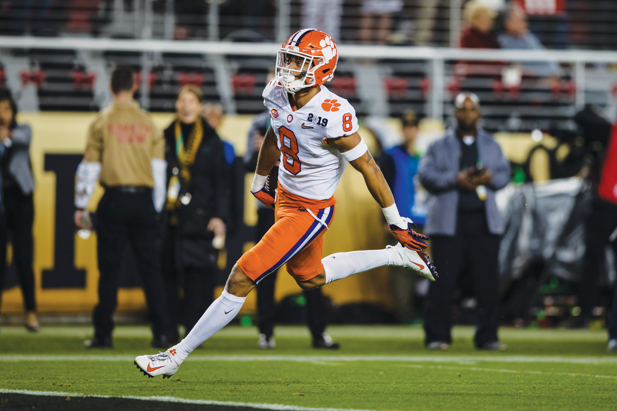 Clemson defensive back A.J. Terrell finishes off a pick-six interception return for a touchdown to give