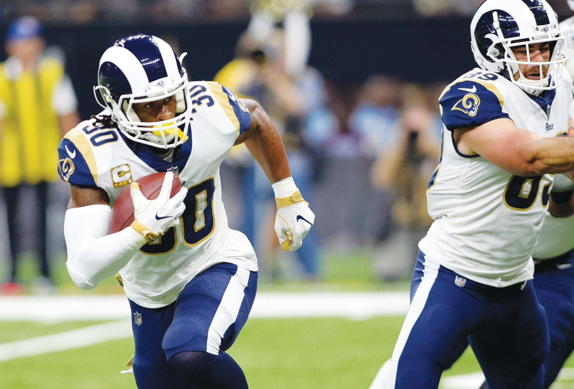 976a8b42c Los Angeles running back Todd Gurley (30) carries for a touchdown in the  first