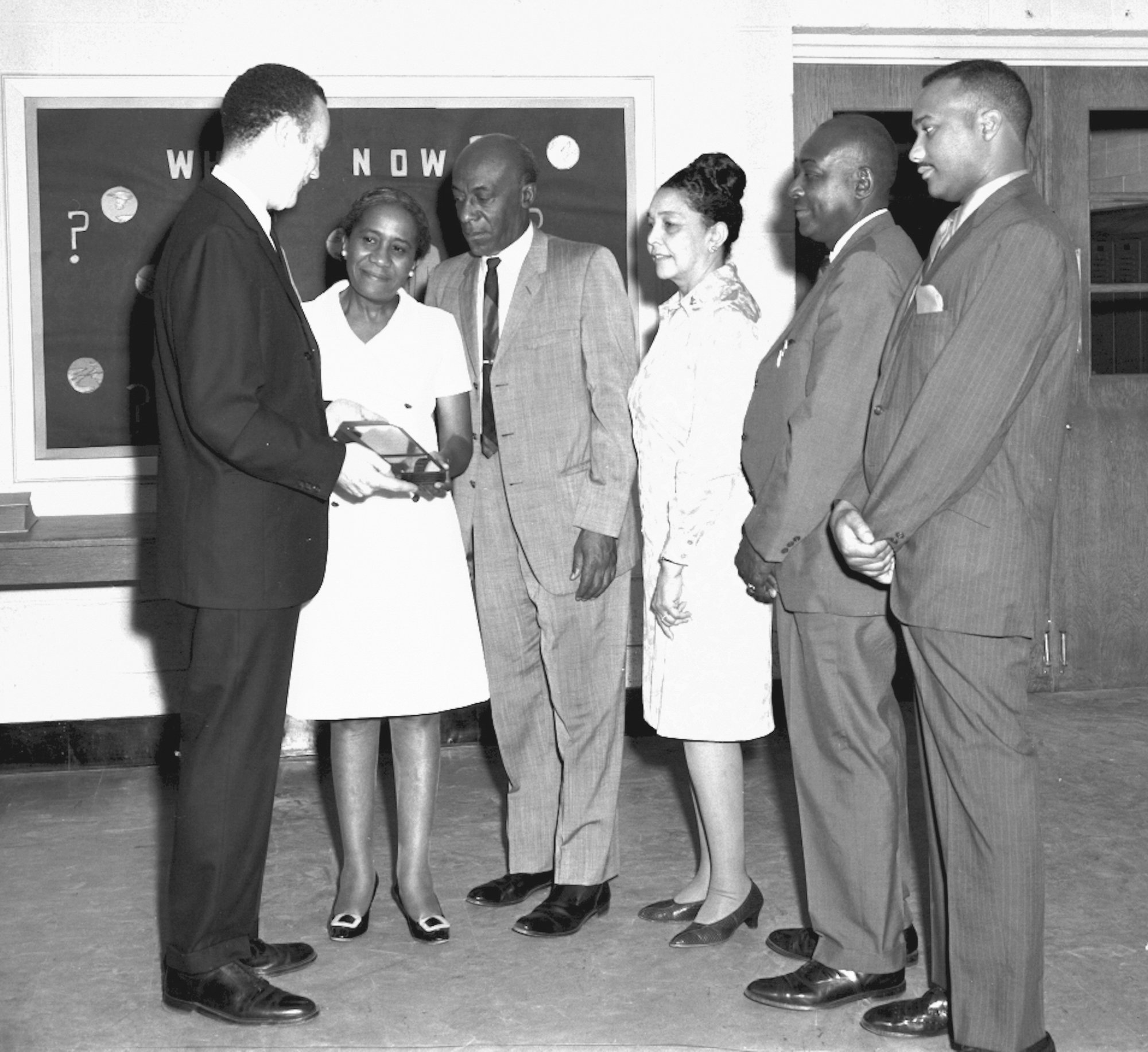 Dr. Wilson receives an award at Lincoln High School in May 1969.