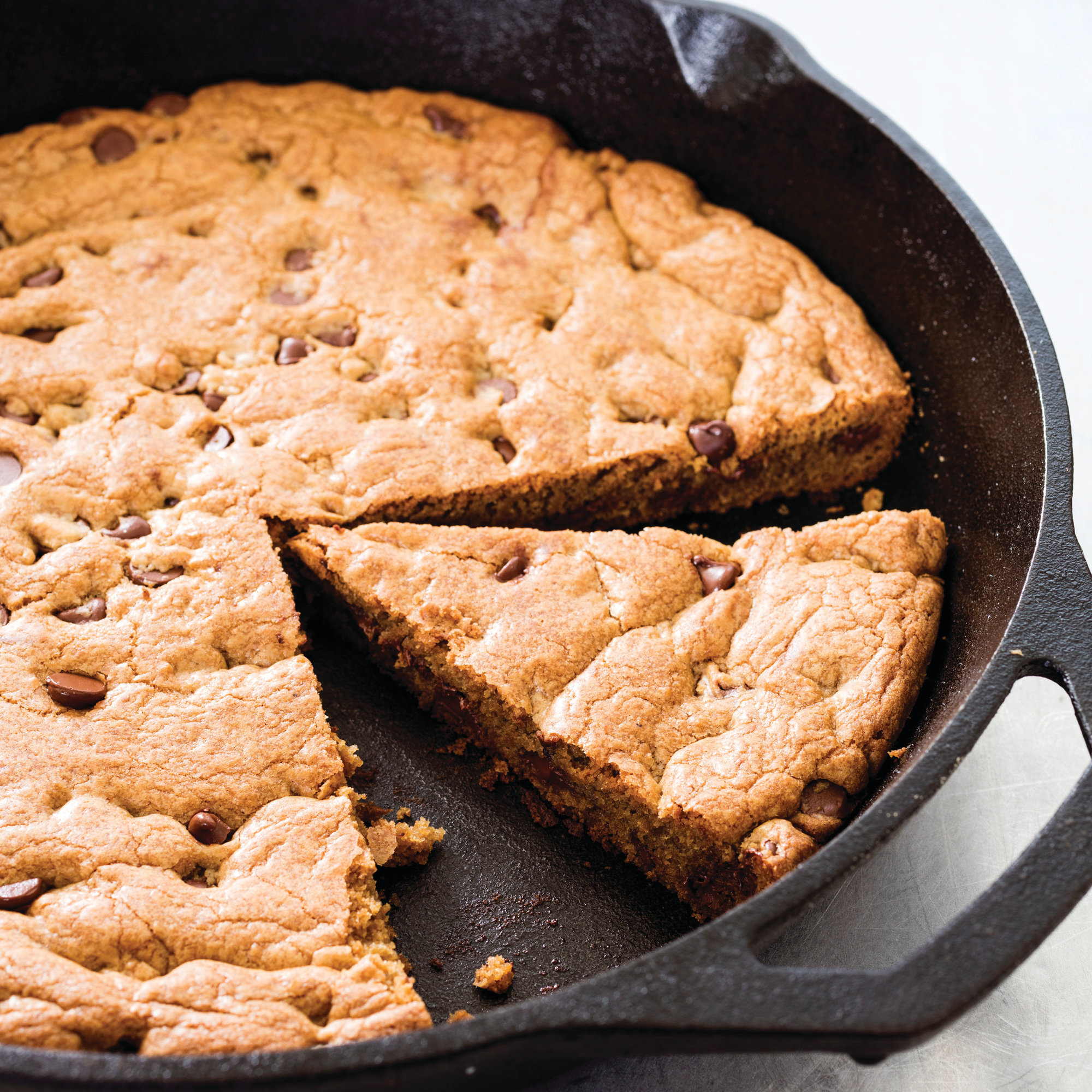 "This undated photo provided by America's Test Kitchen in January 2019 shows a Chocolate Chip Skillet Cookie in Brookline, Mass. This recipe appears in the cookbook ""The Perfect Cookie."