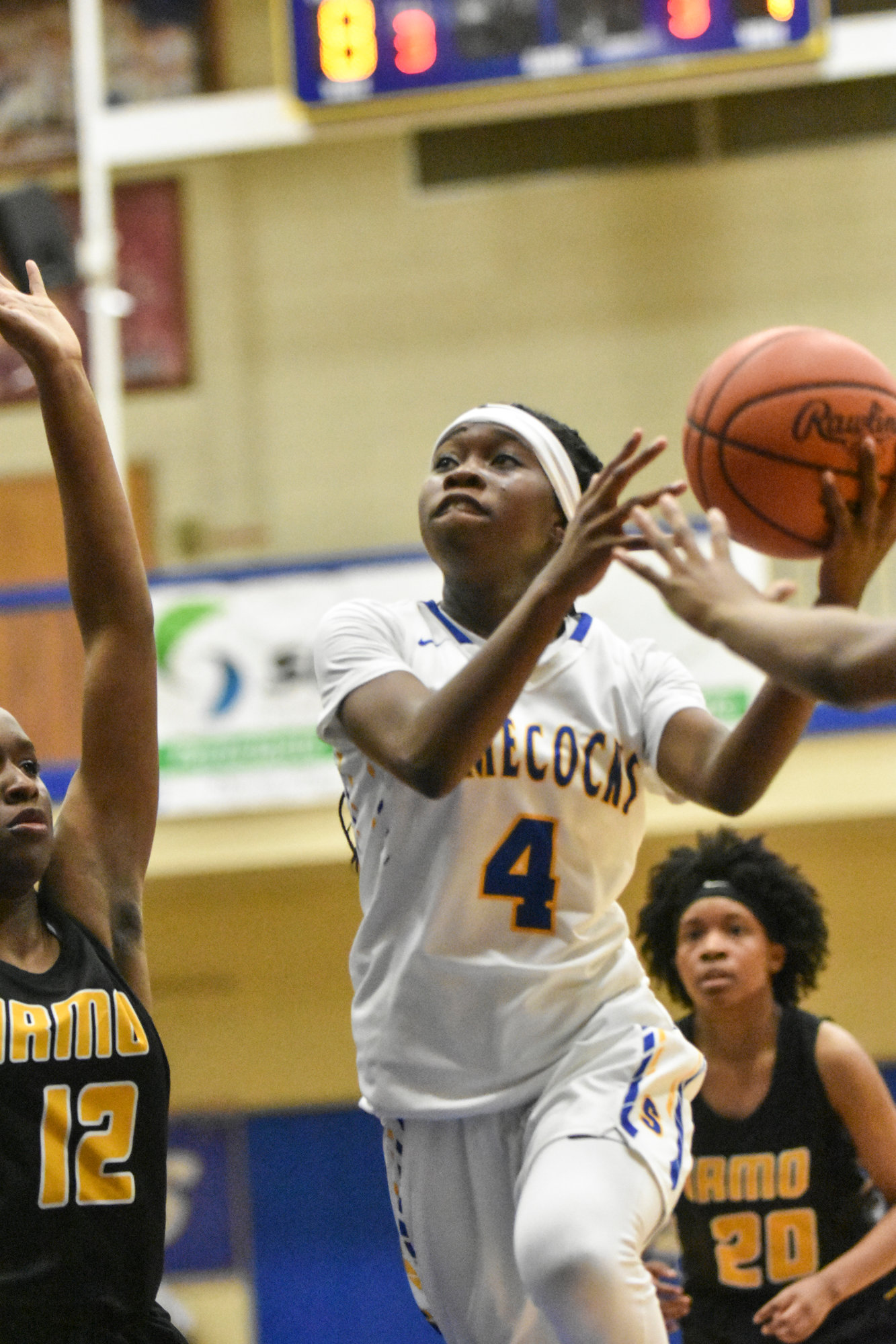 Sumter's CeCe Wells goes to the basket during the Lady Gamecocks' 51-36 victory over Irmo on Friday at the SHS gymnasium.