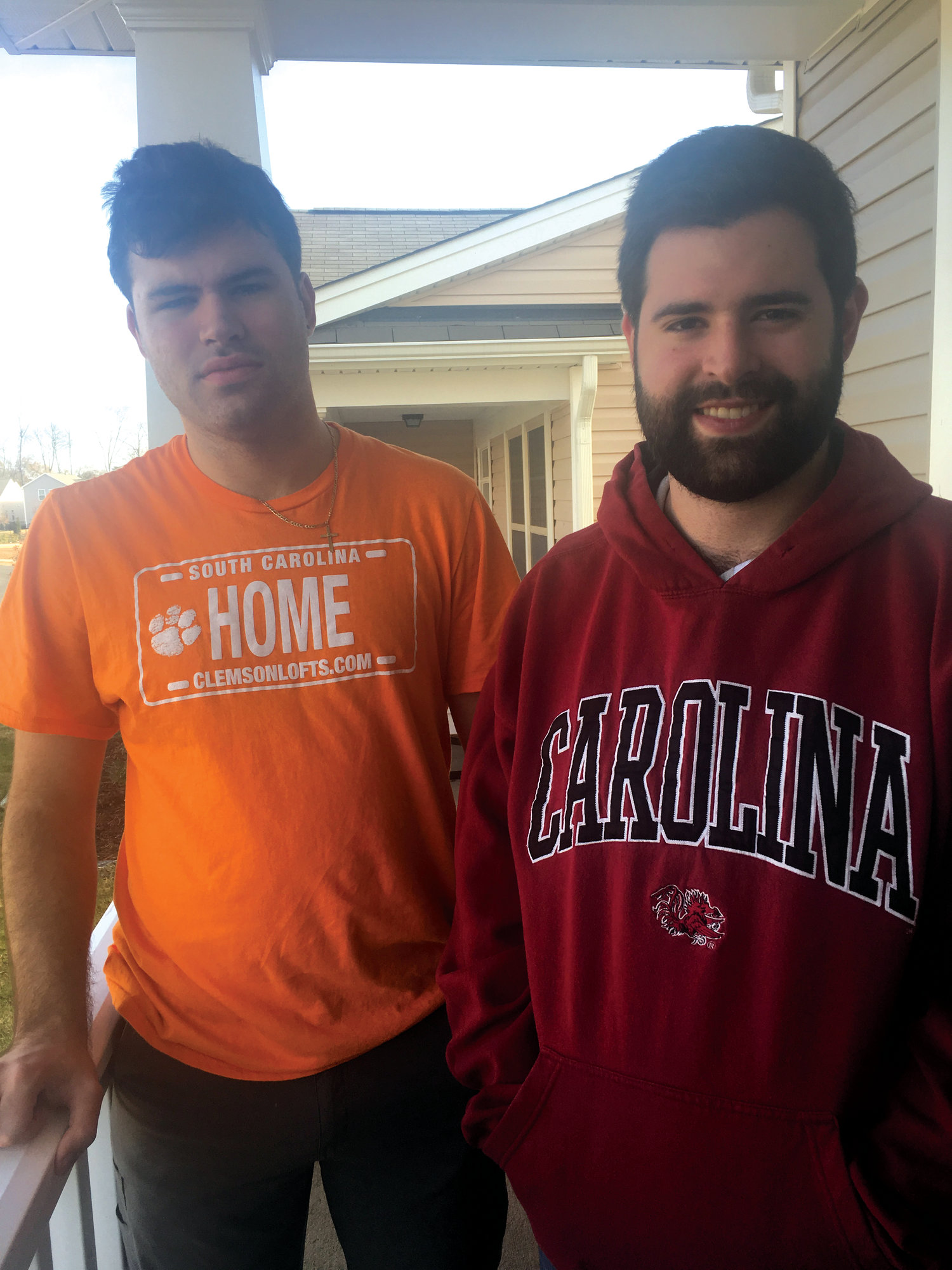 Danny Kelly, right, and his younger brother, Ben, who currently attends Clemson, are a house divided.