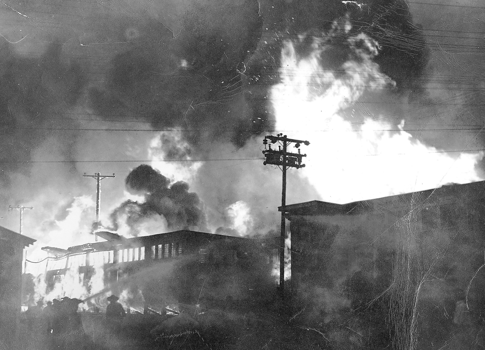 Sumter Daily Item photographer Heyward Crowson photographed a boxcar explosion at a Sumter railroad and won first place in the annual press awards contest for his work. The car filled with explosives caught fire in September 1968 and exploded.